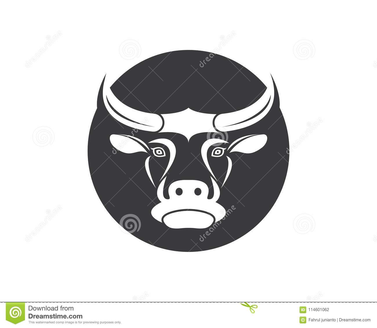 cow head logo vector template stock vector illustration of