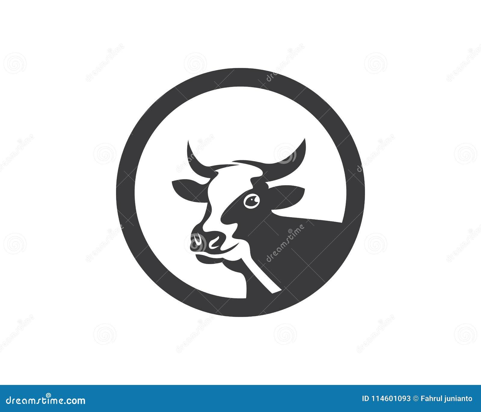 cow head logo vector template stock vector illustration of face