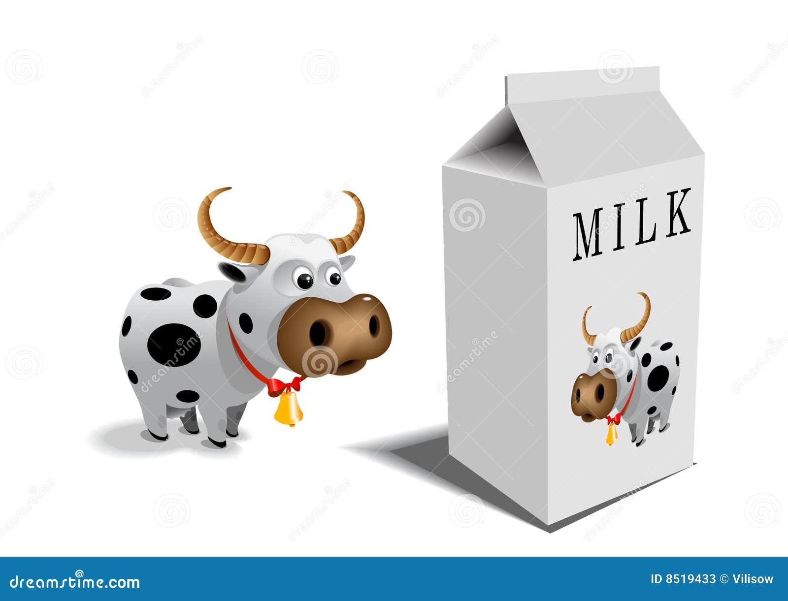 Cow Milk Animation Cow and milk box