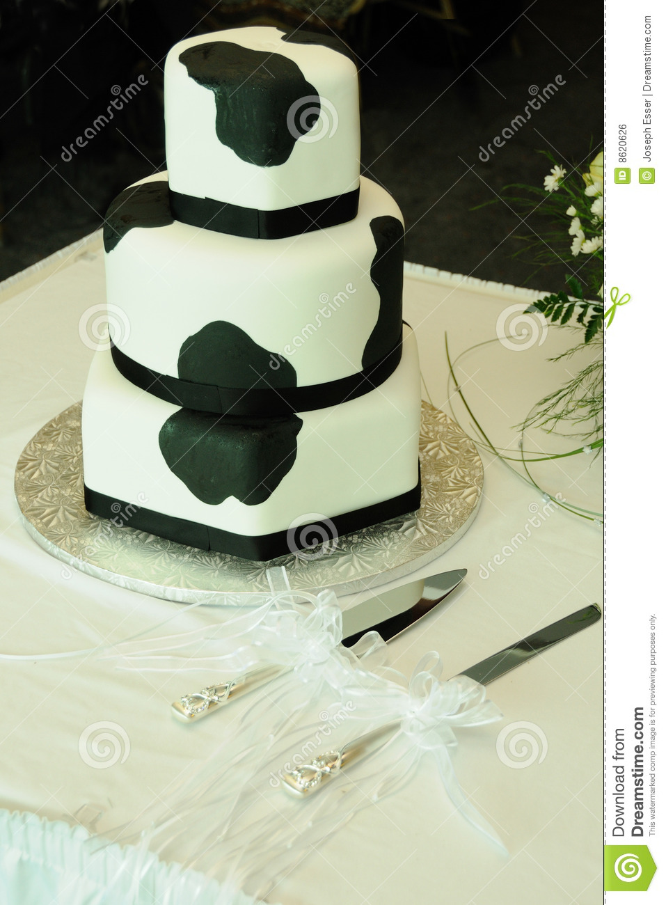 Cow Pattern Wedding Cake Royalty Free Stock Image Image