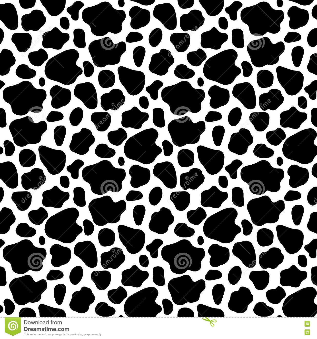cow print background stock vector image 76425440