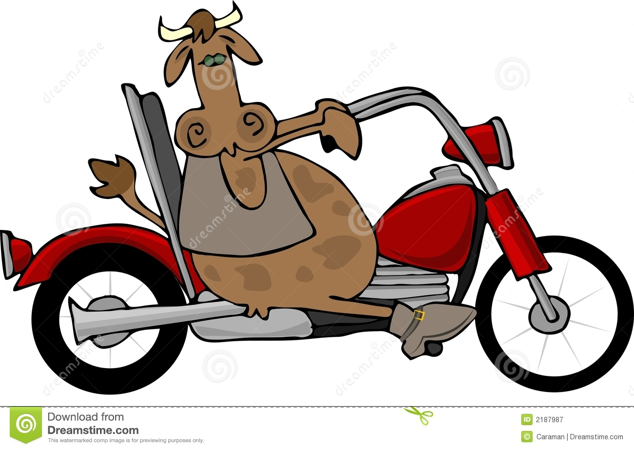 cow riding a motorcycle stock vector illustration of vest bull riding clip art free bull riding clip art free