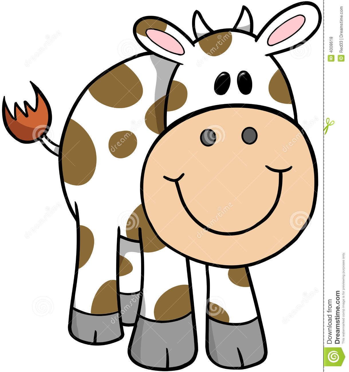Cow Vector Illustration Royalty Free Stock Photos - Image: 4008618