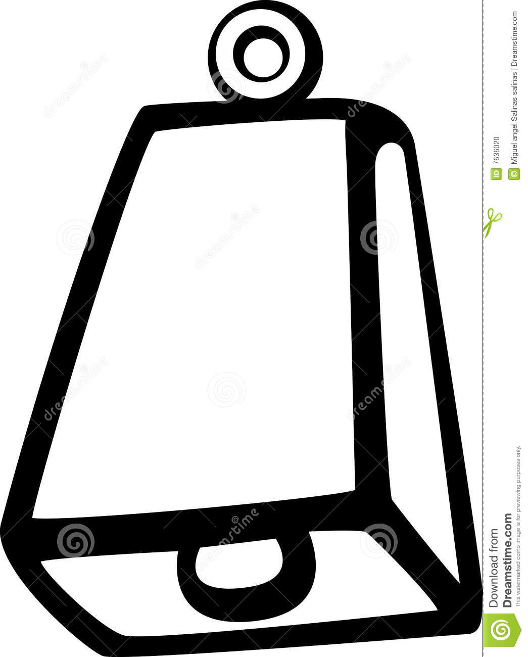 cowbell vector illustration stock vector illustration of cowbell rh dreamstime com cowbell clipart cowbell clipart free