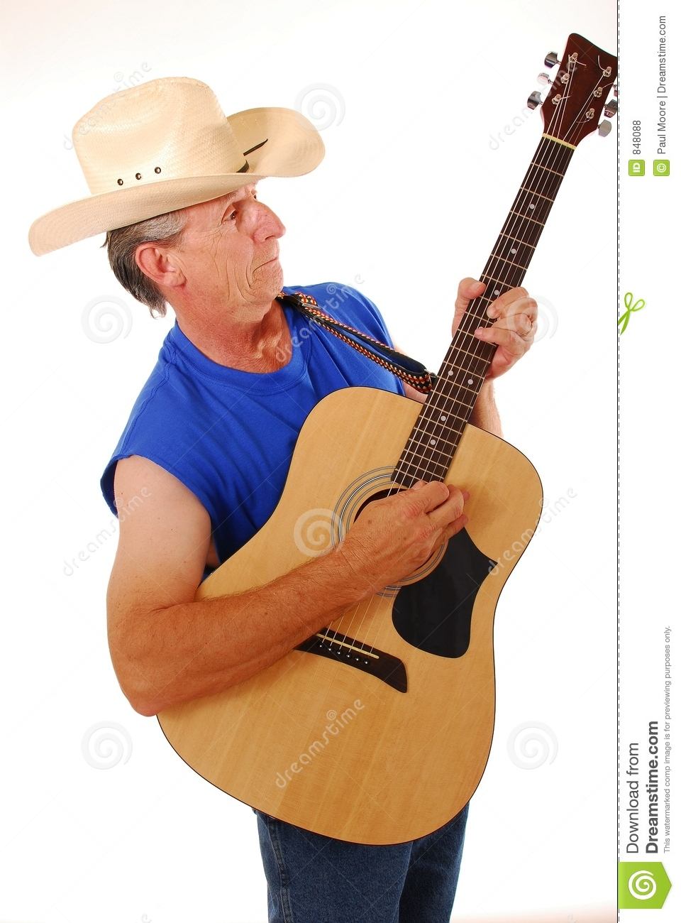 Cowboy with acoustic guitar