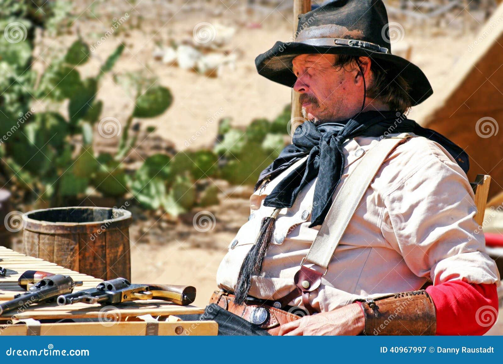 Cowboy anziano di selvaggi West