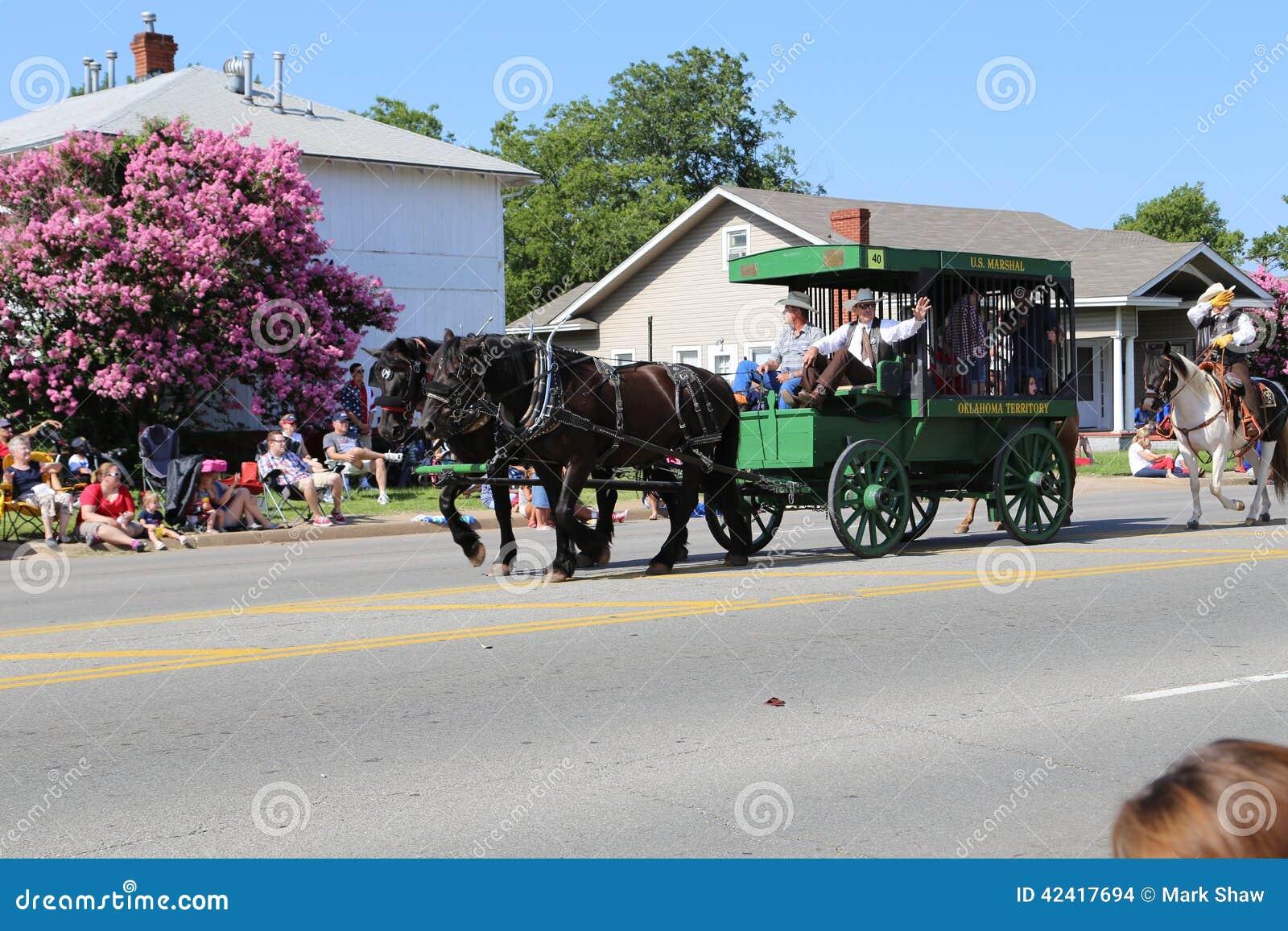Cowboy au défilé