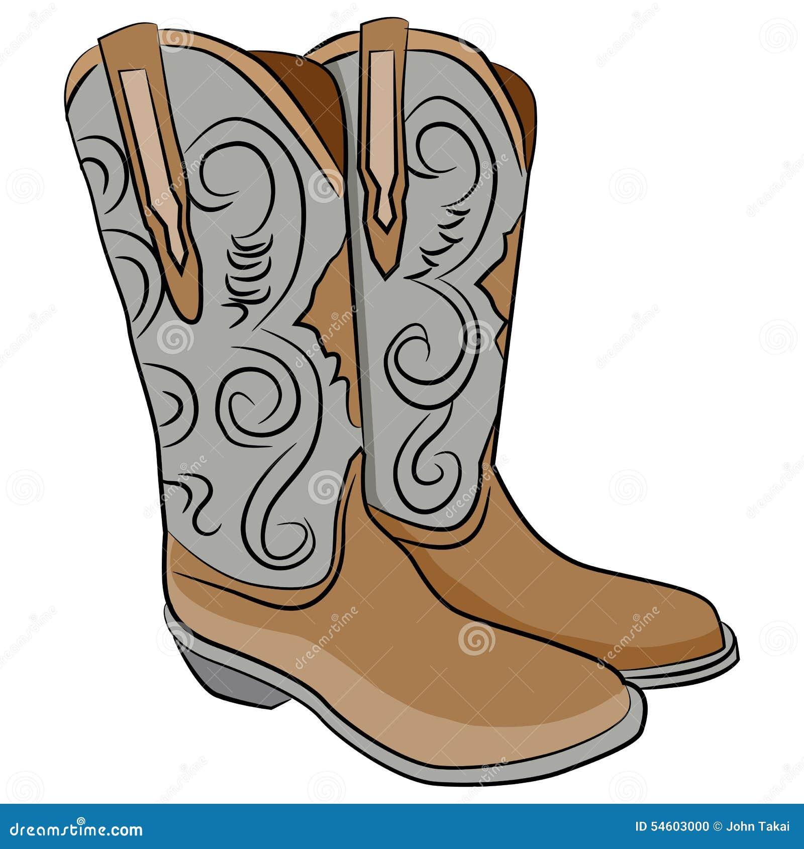 Cowboy Boots Cartoon Stock Vector - Image: 54603000