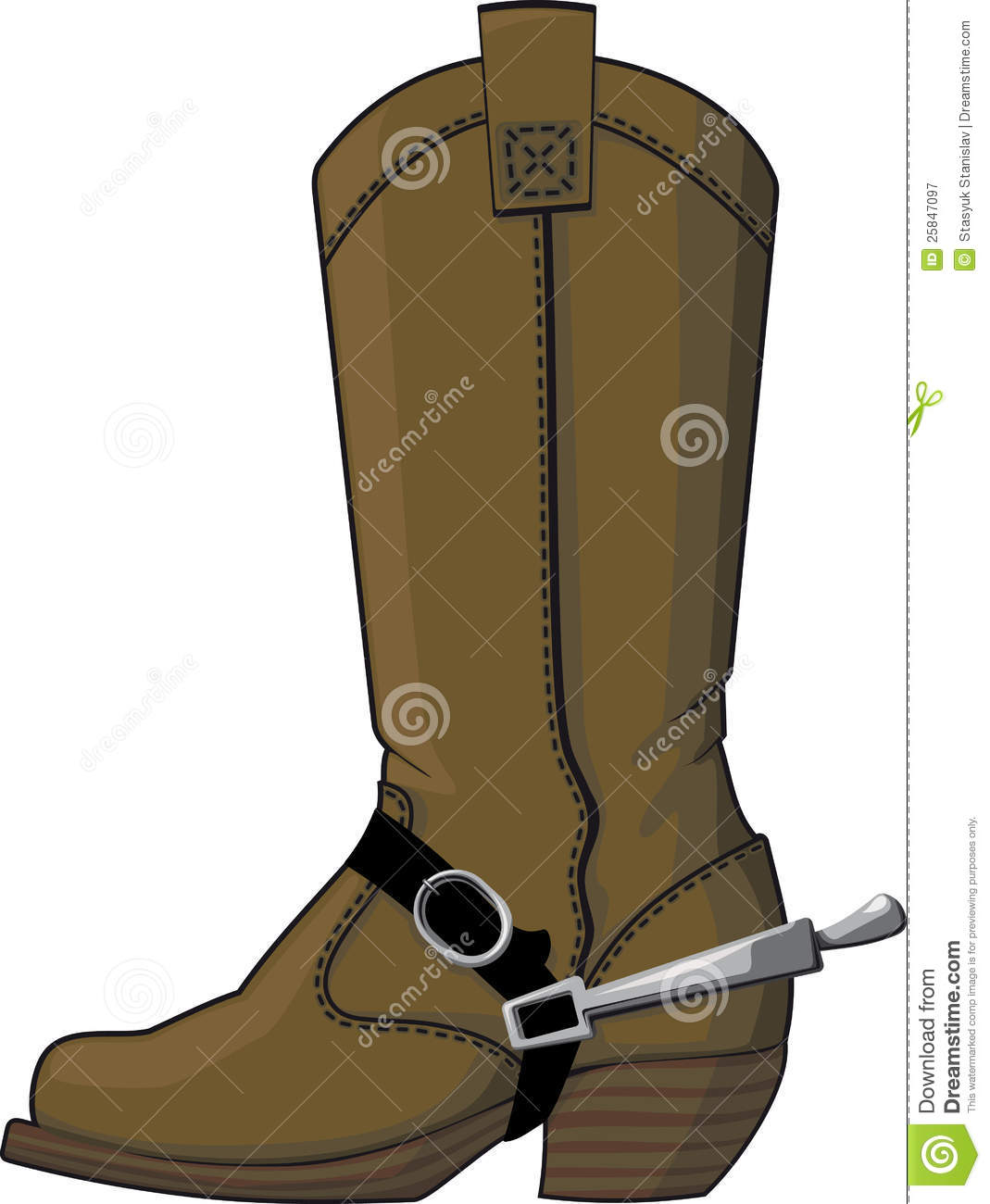 Cowboy Boots With Spurs Royalty Free Stock Photography - Image ...