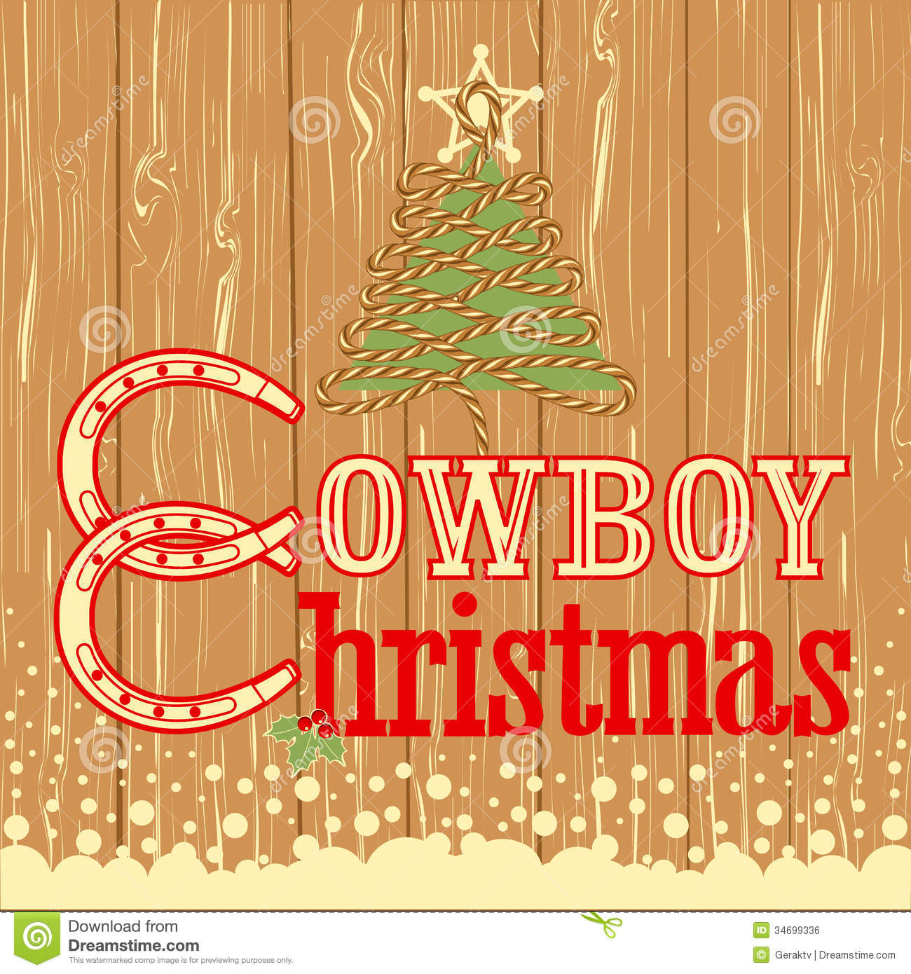 Western Christmas Cards - Texas Christmas Cards