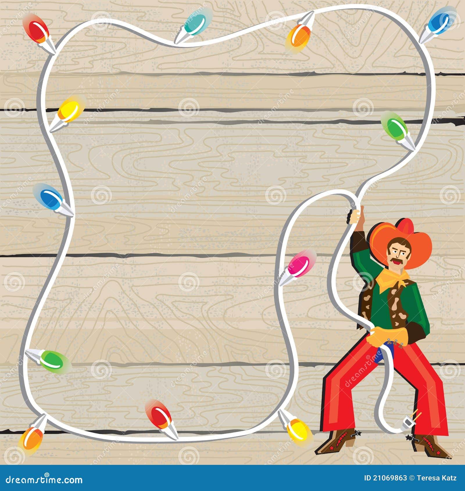 Cowboy Christmas Clipart Cowboy christmas lasso