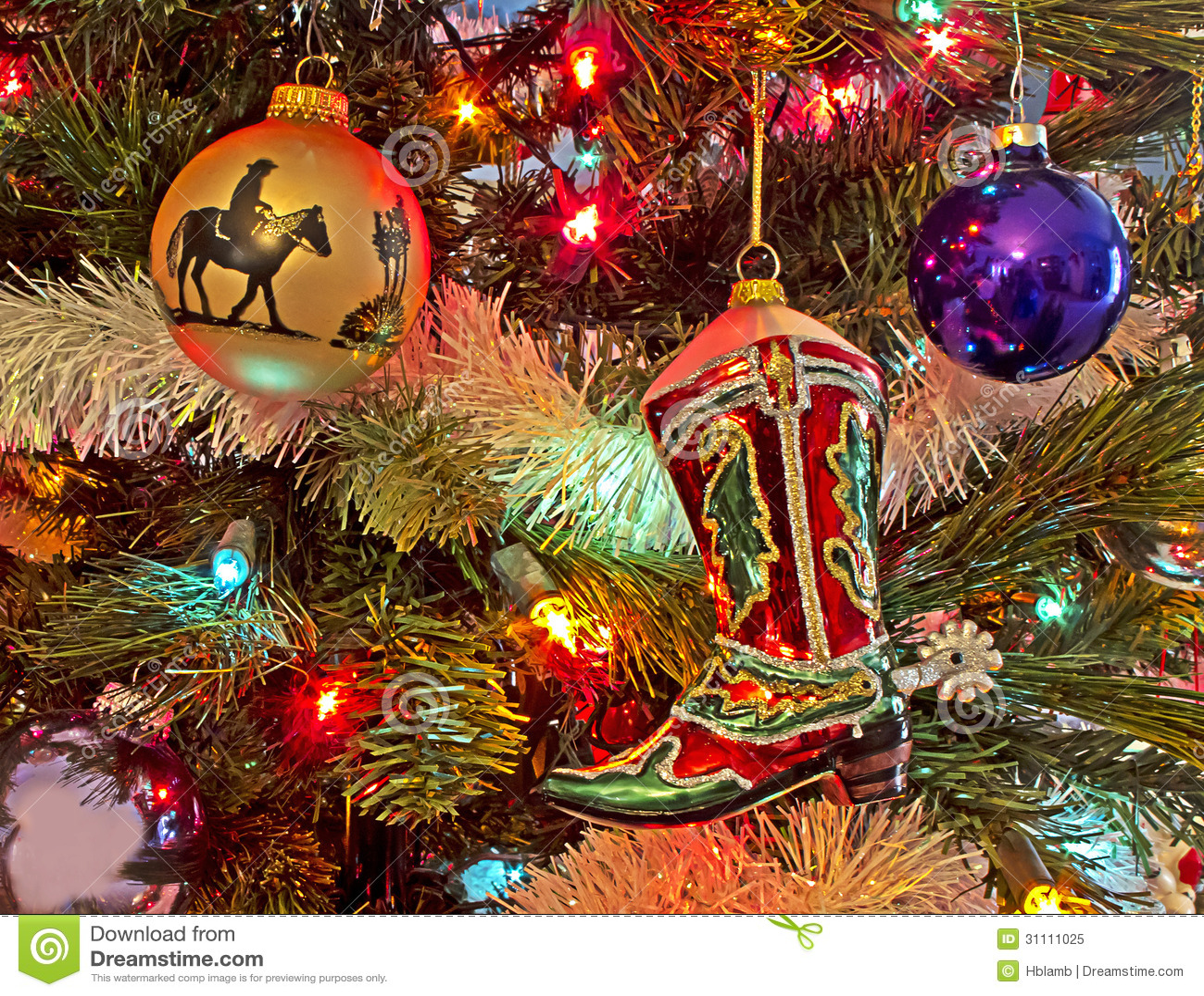 Cowboy Christmas Royalty Free Stock Photo - Image: 31111025
