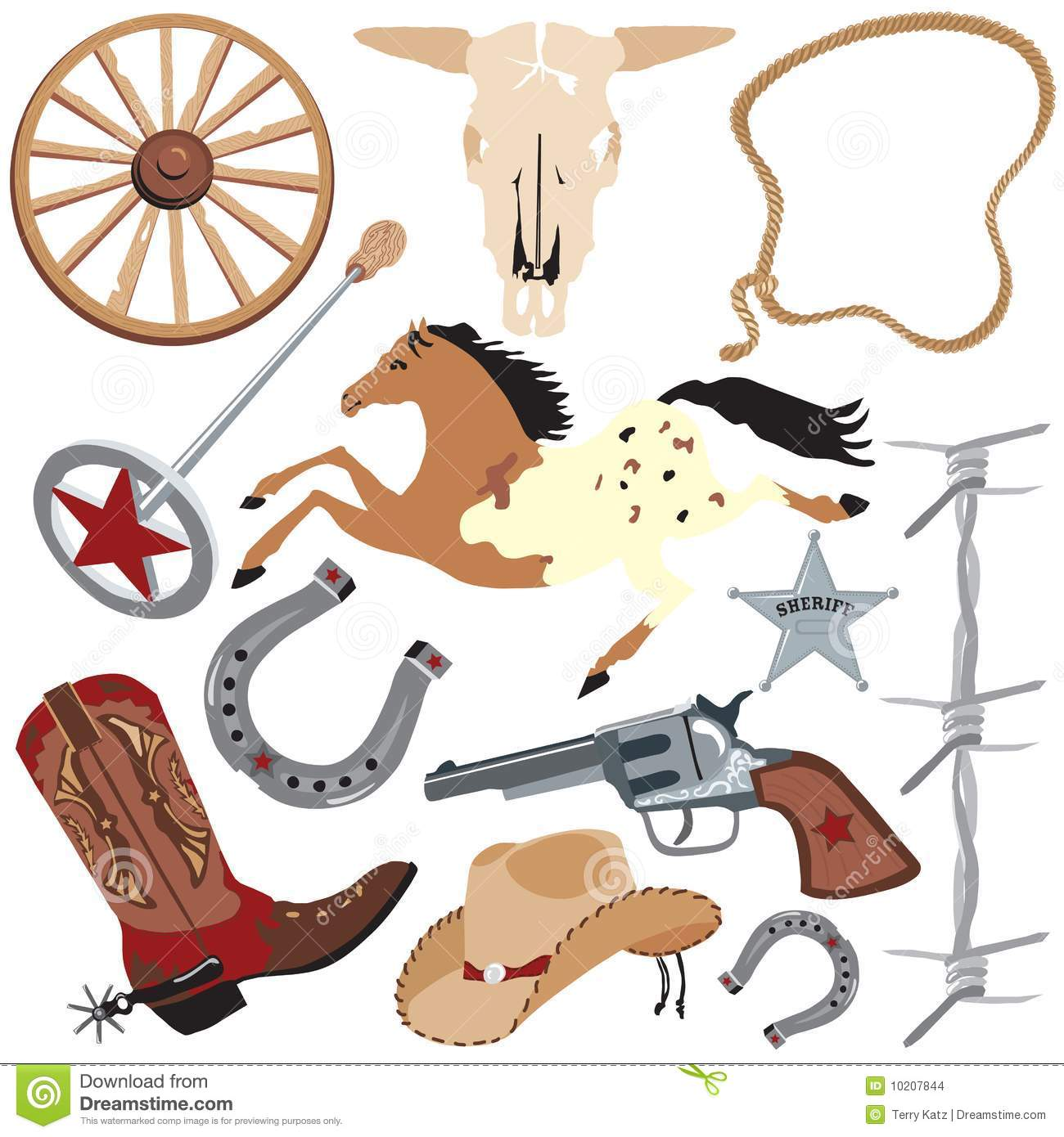 cowboy clip art elements  isolated on white stock vector rope clip art border free rope clip art divider