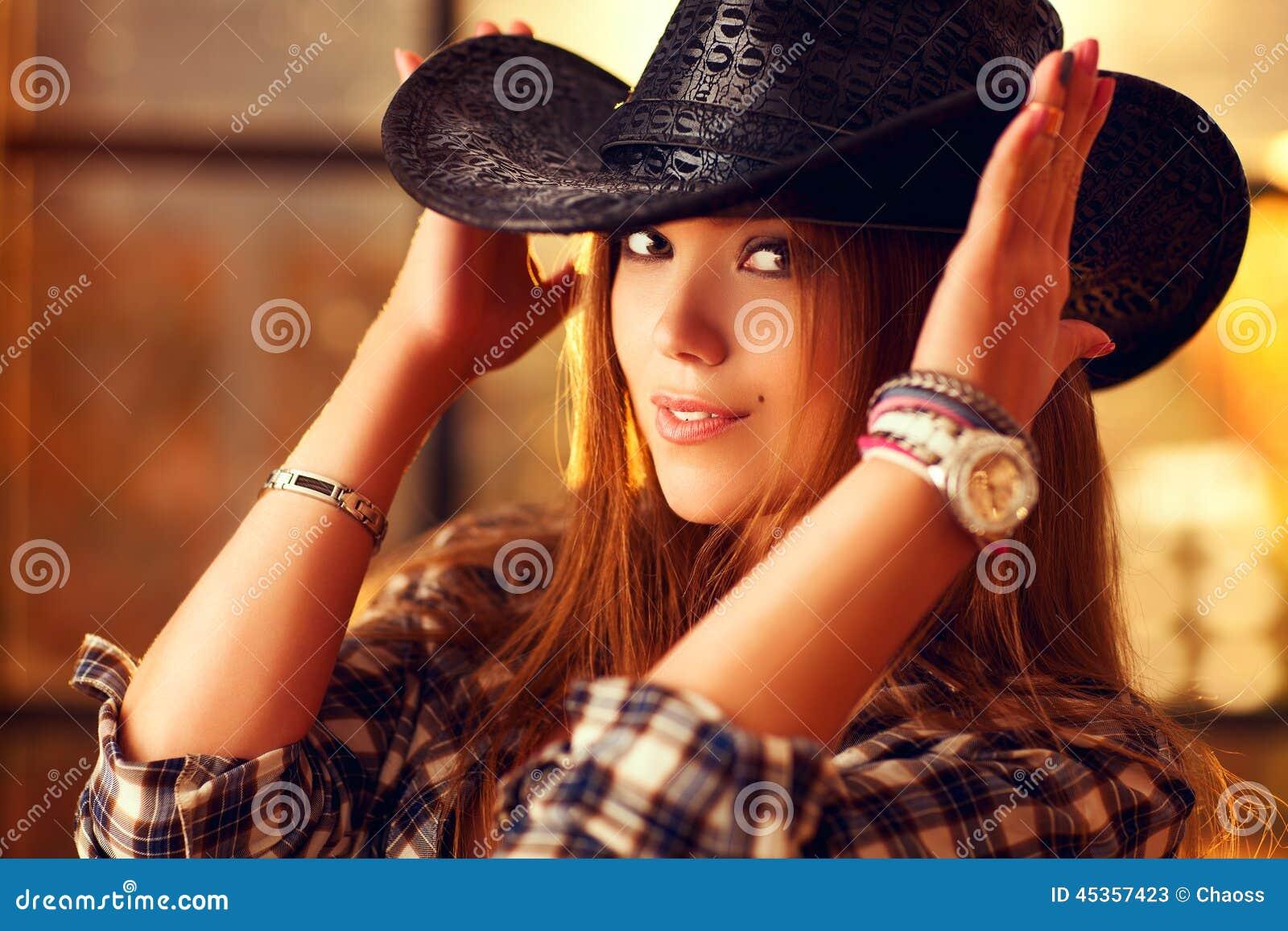 Cowboy de jeune femme