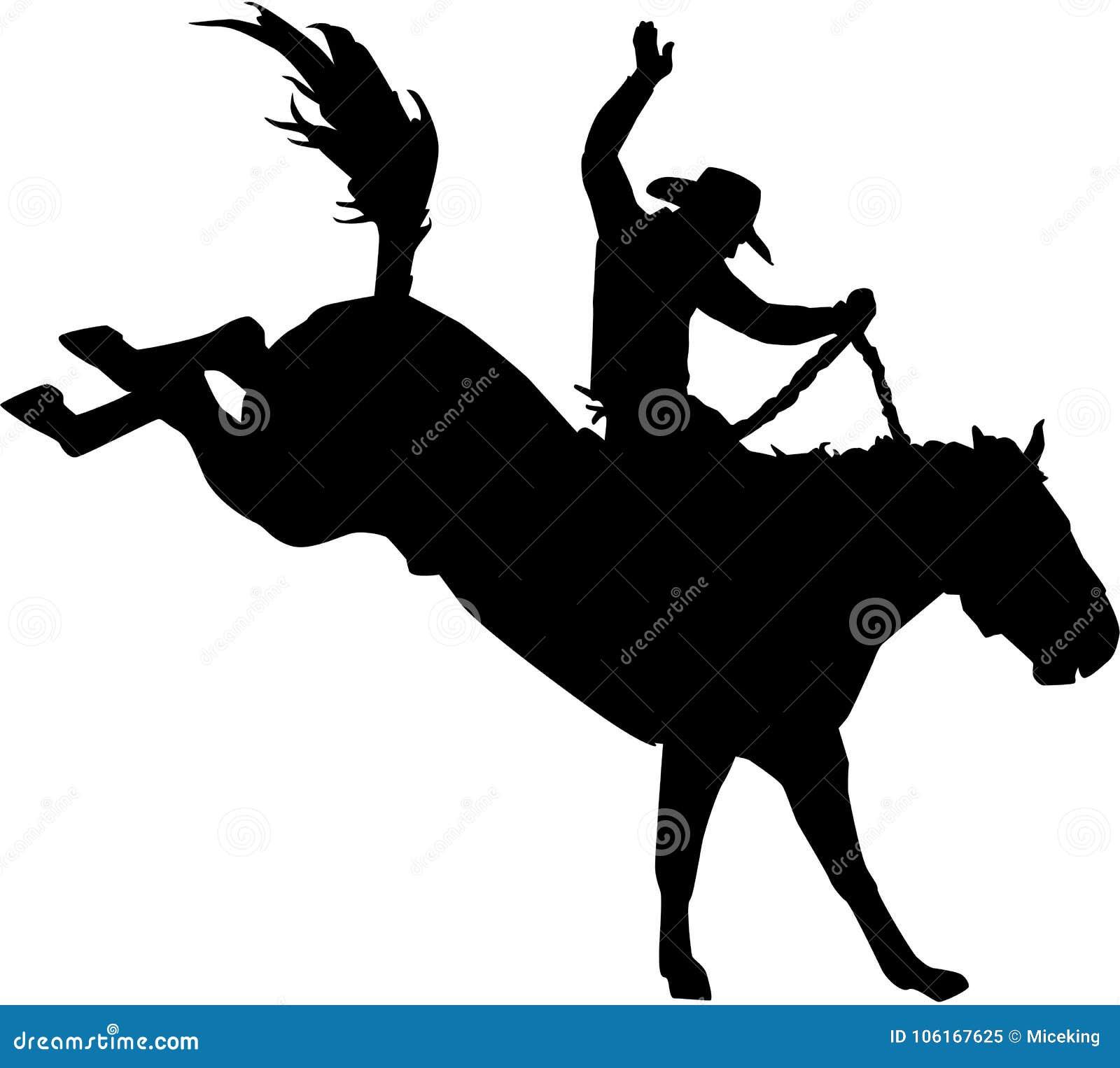 Cowboy de rodéo sur le cheval