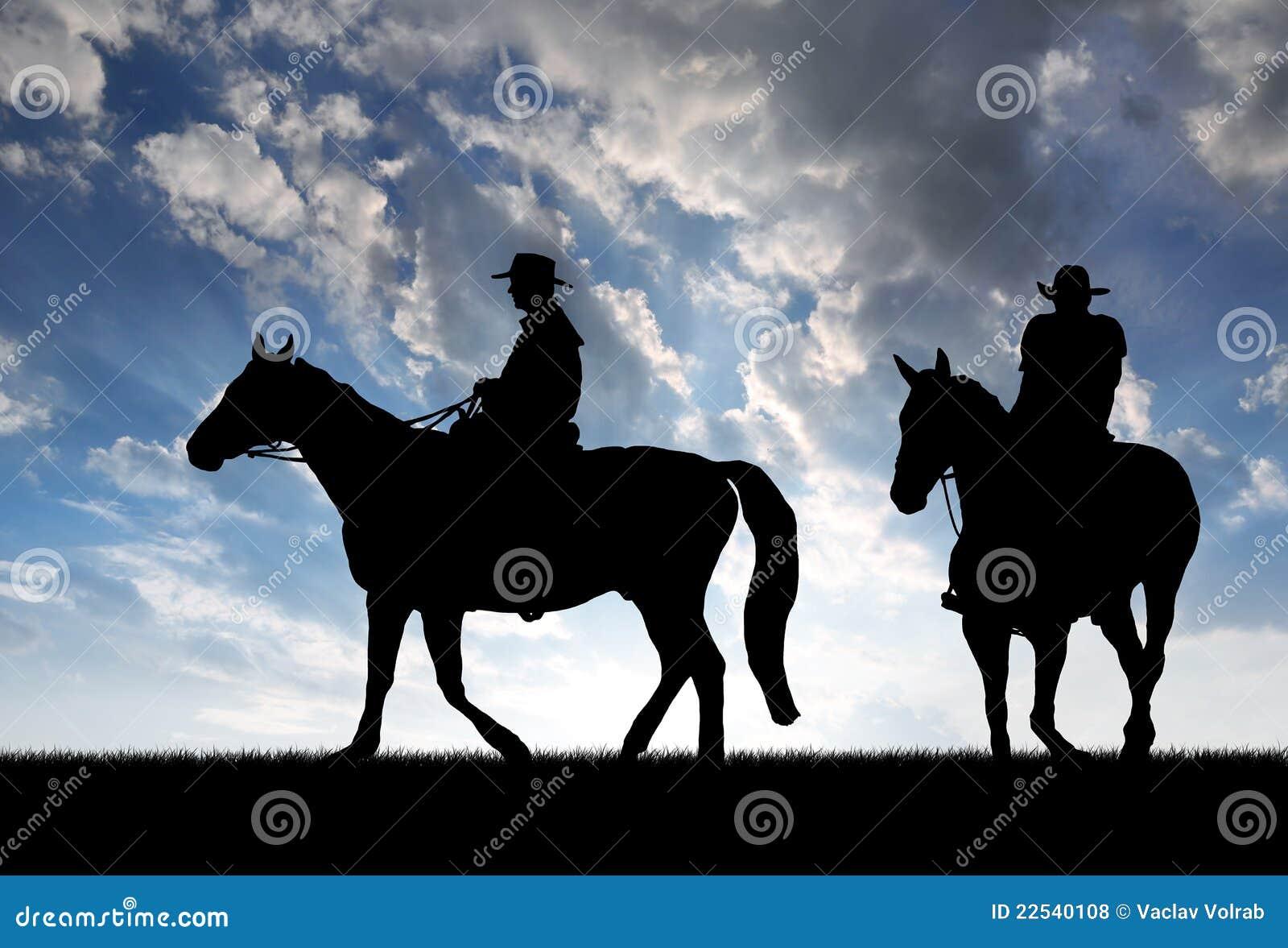 Cowboy della siluetta