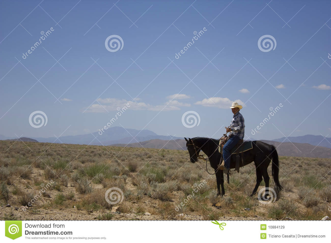 Cowboy In The Desert Stock Image Image Of Bare