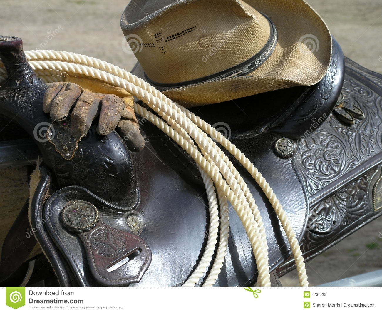 Cowboy Gear Stock Photography Image 635932