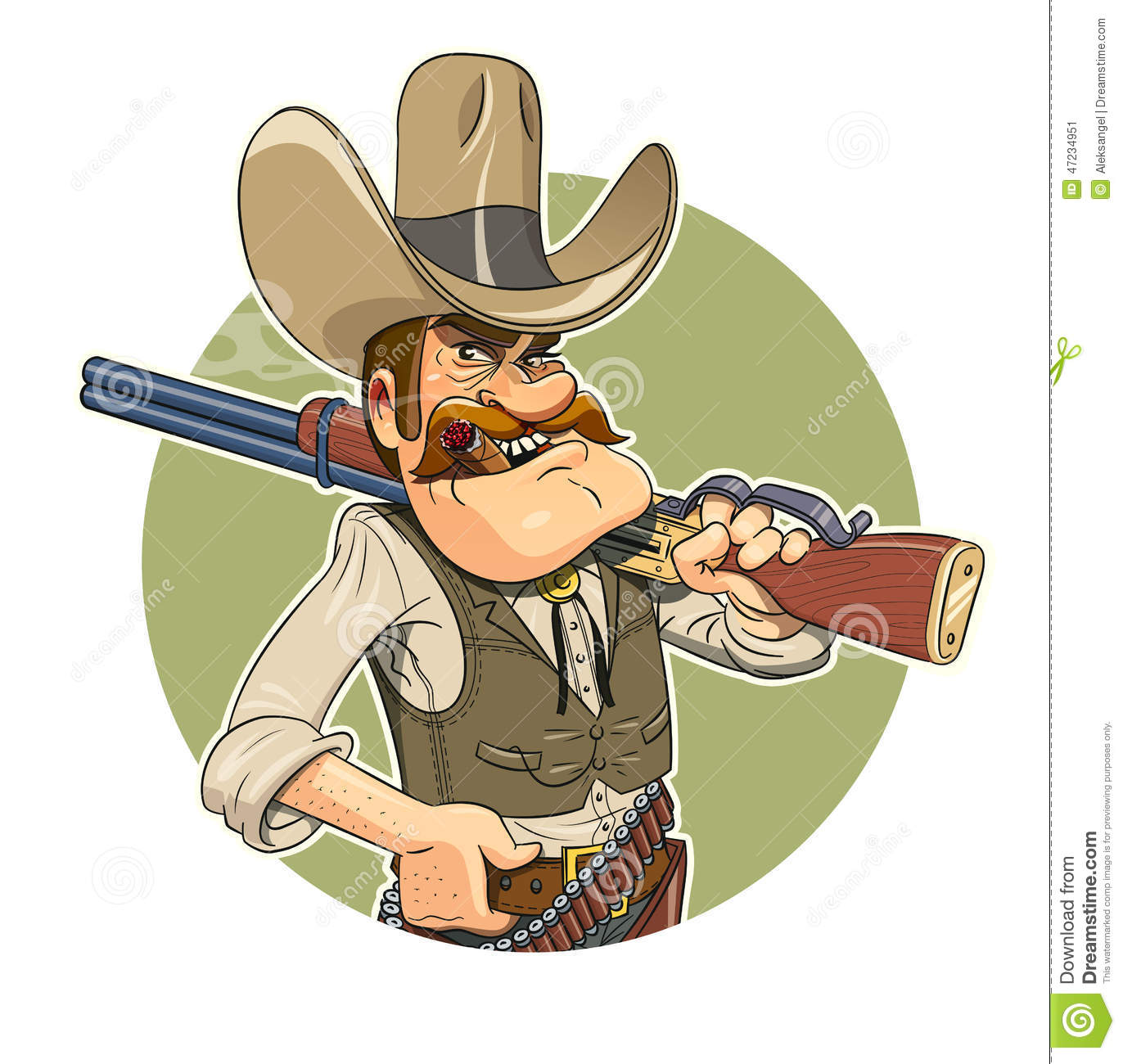 5a7062f9e32 Cowboy Gun Stock Illustrations – 3