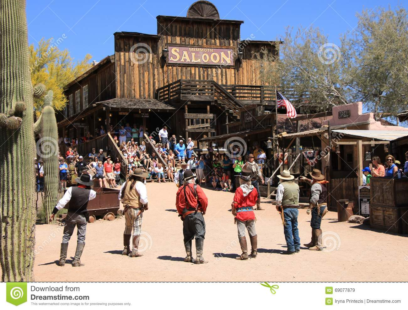 Cowboy Gunfighters at Goldfield Ghost Town