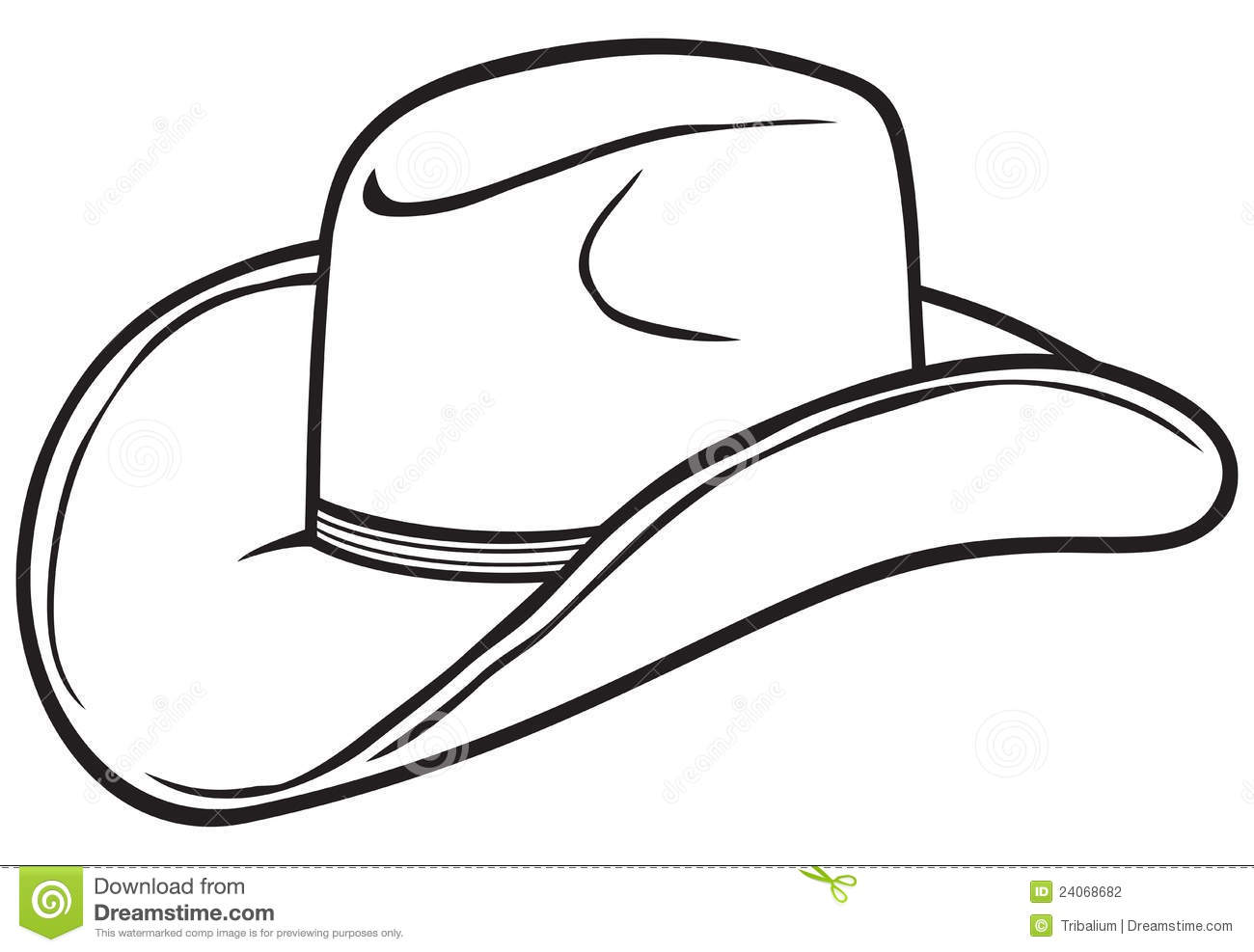 Pickle Clip Art Black And White Cowboy hat Stock Photography