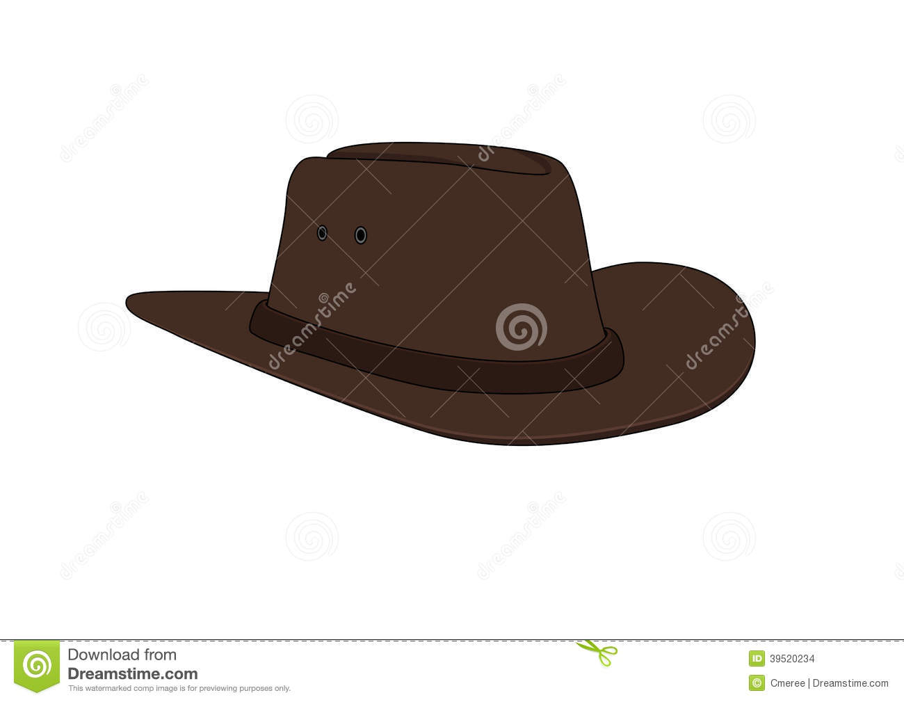Drawing Of An Isolated Cowboy Hat