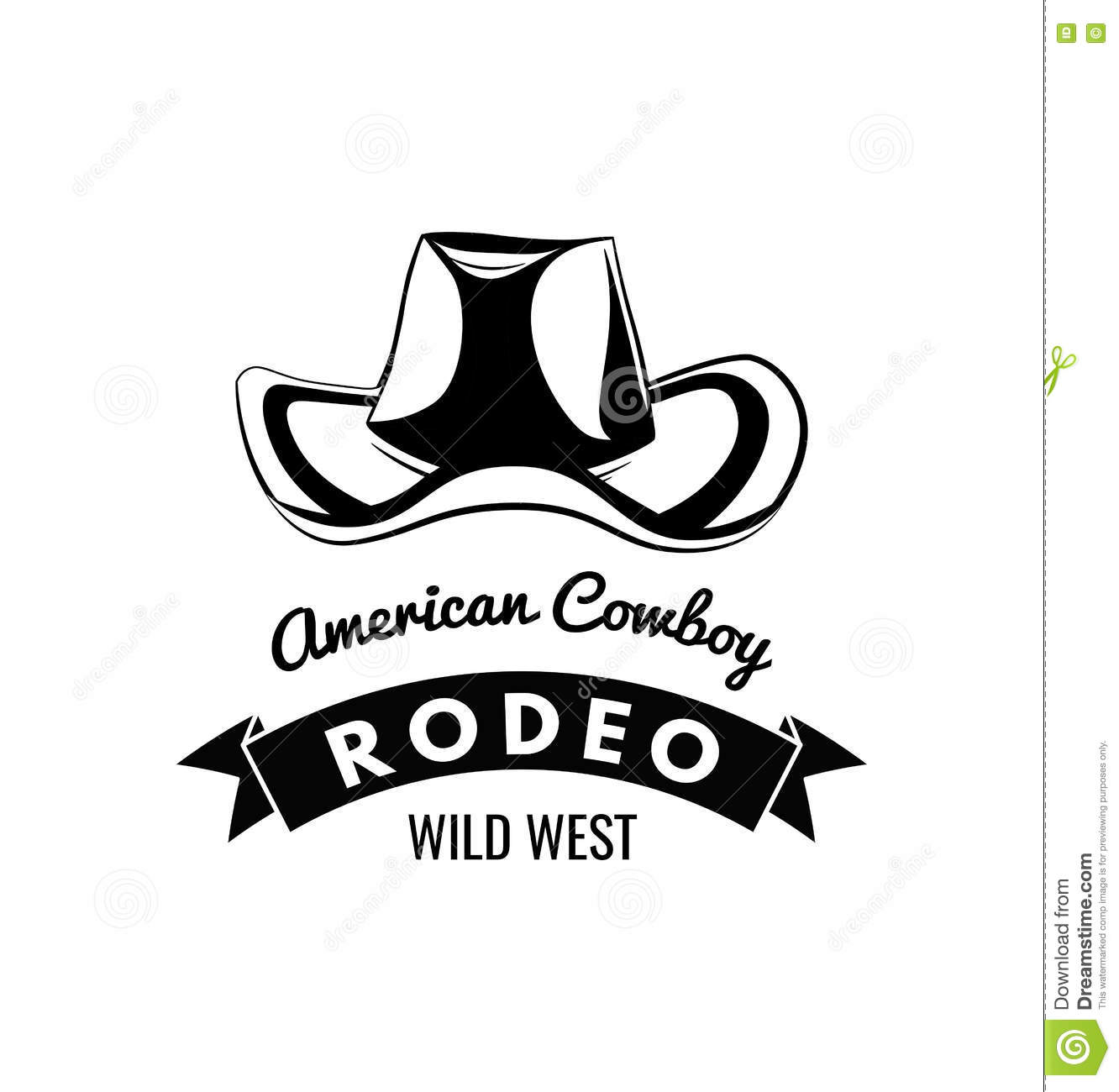 Cowboy hat. Wild West Label. Rodeo Competition Badge. Western Illustration. Vector  Isolated On White Background. More similar stock illustrations eb5147462131