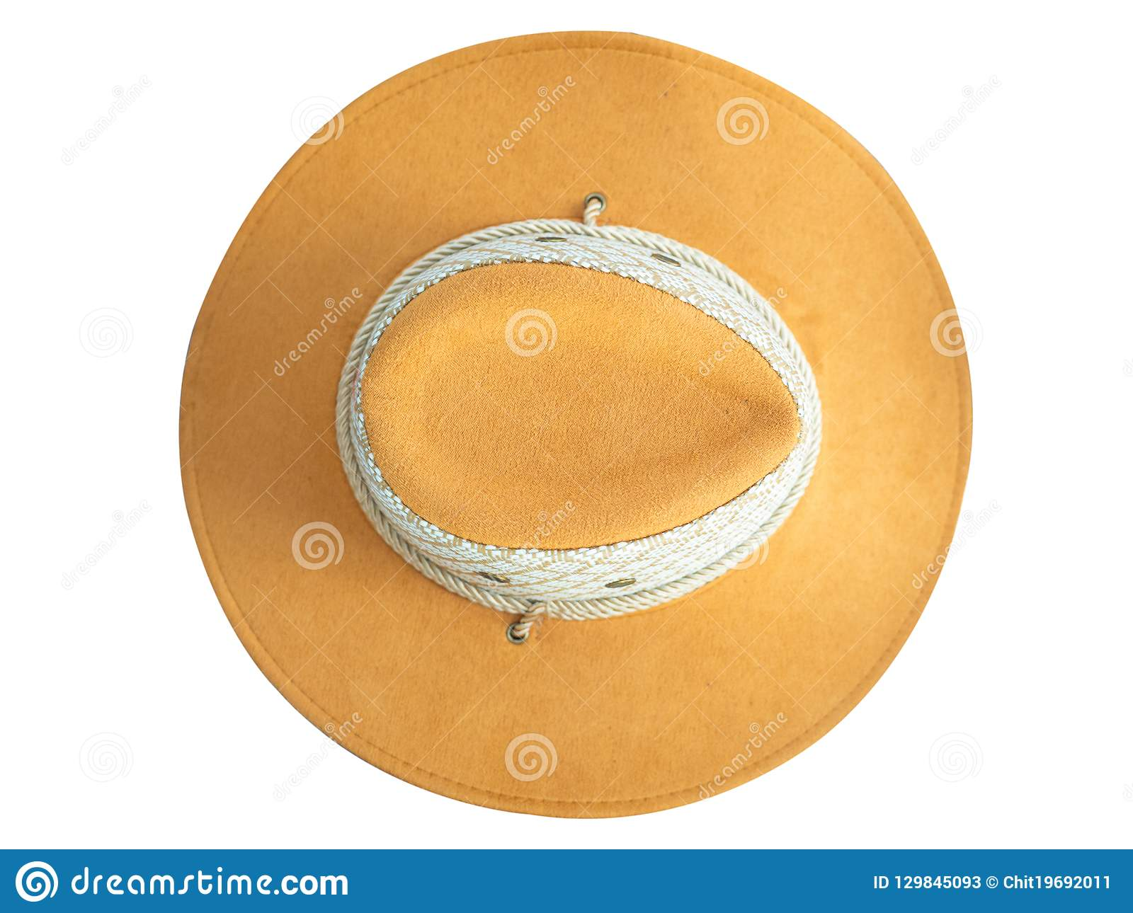 d05bad0bf3c Cowboy Hat On White Background. Clipping Path Stock Image - Image of ...