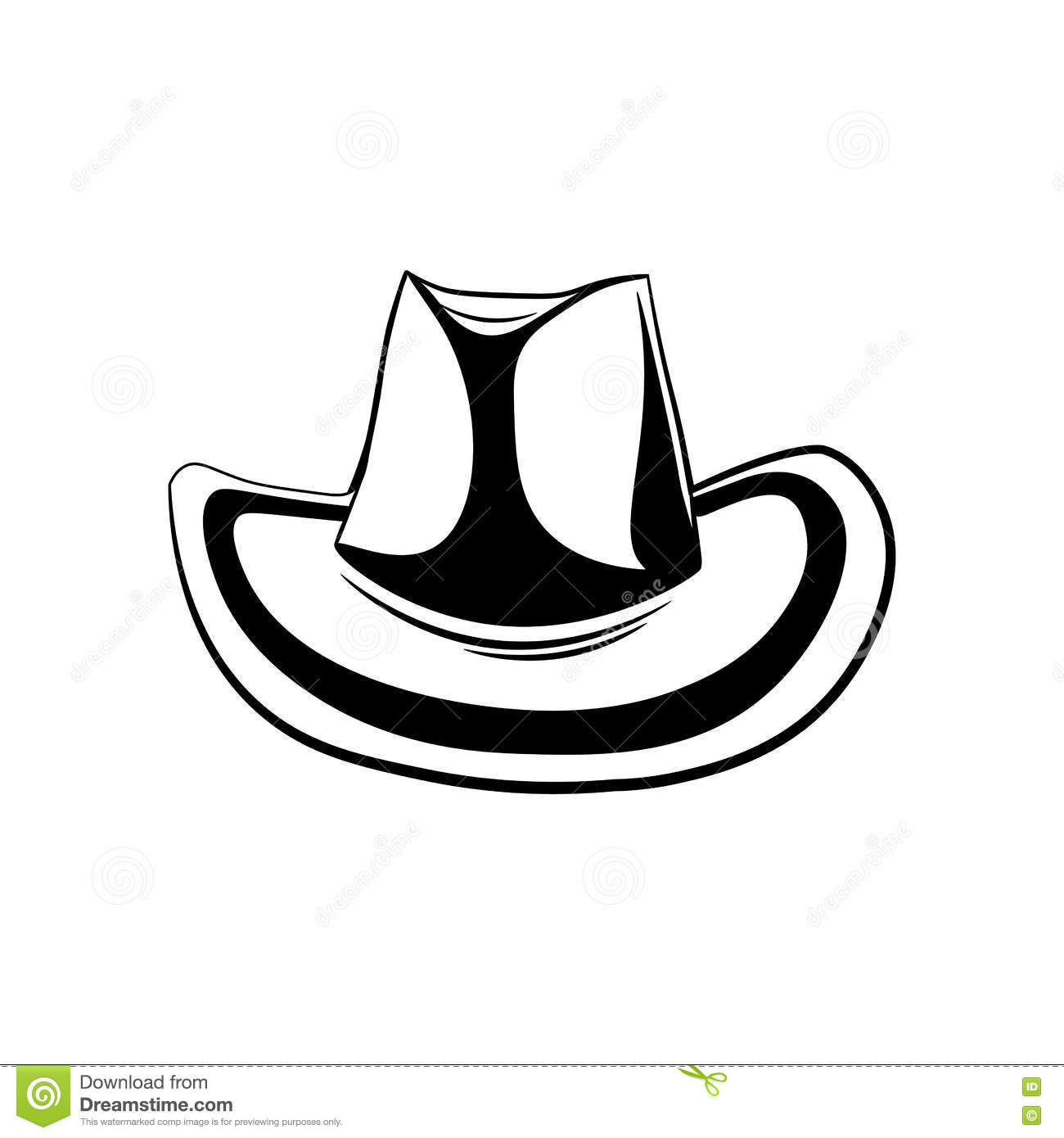 Cowboy Hat. Isolated On White Background Stock Vector - Illustration ... 0ac95ae88f9