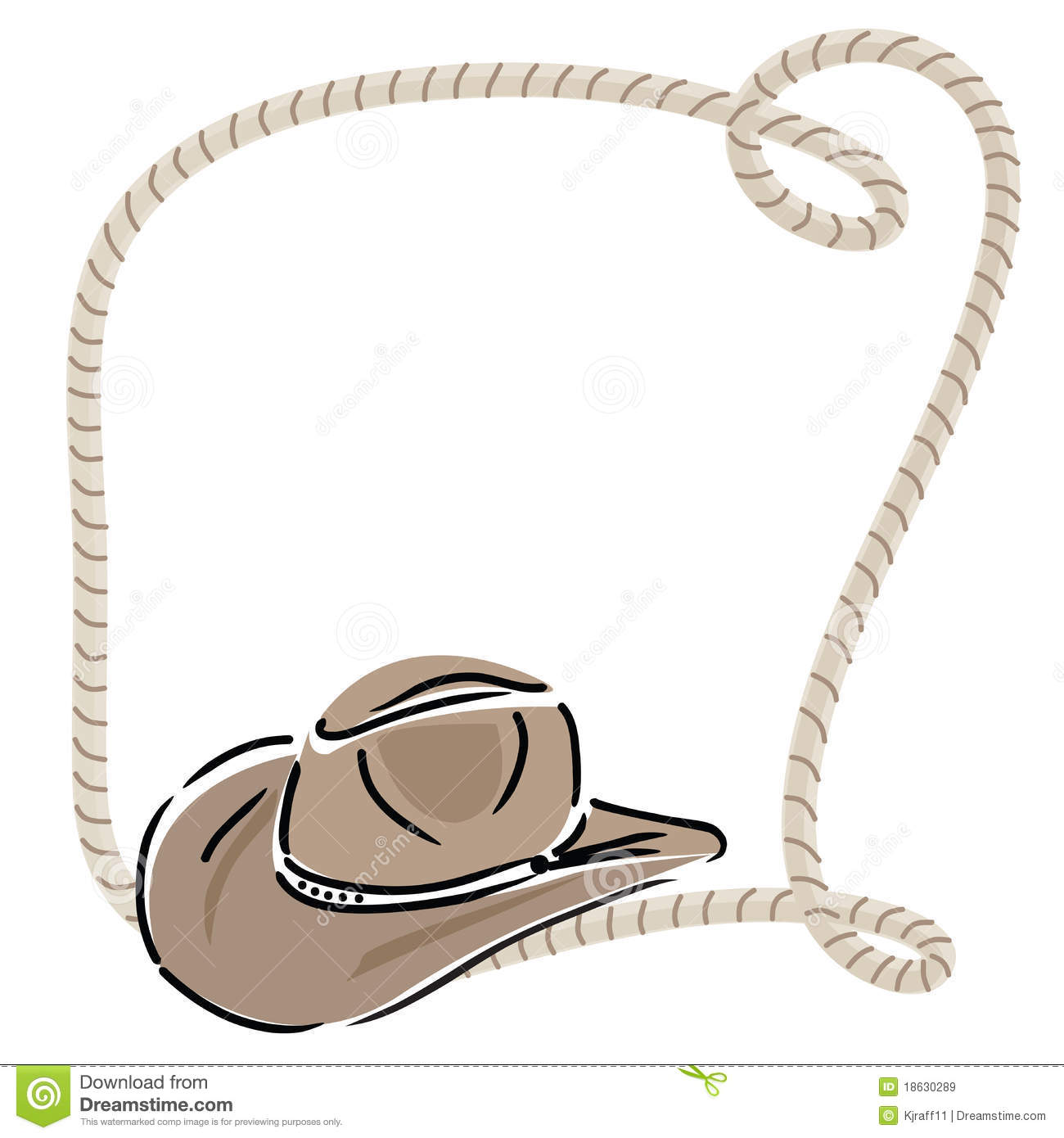 Cowboy Hat With Rope Stock Vector Illustration Of Clothing 18630289