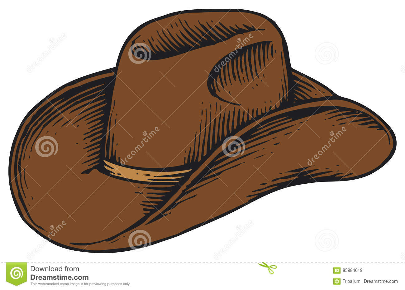 5fd76cac3684e Cowboy Hat Stock Illustrations – 11