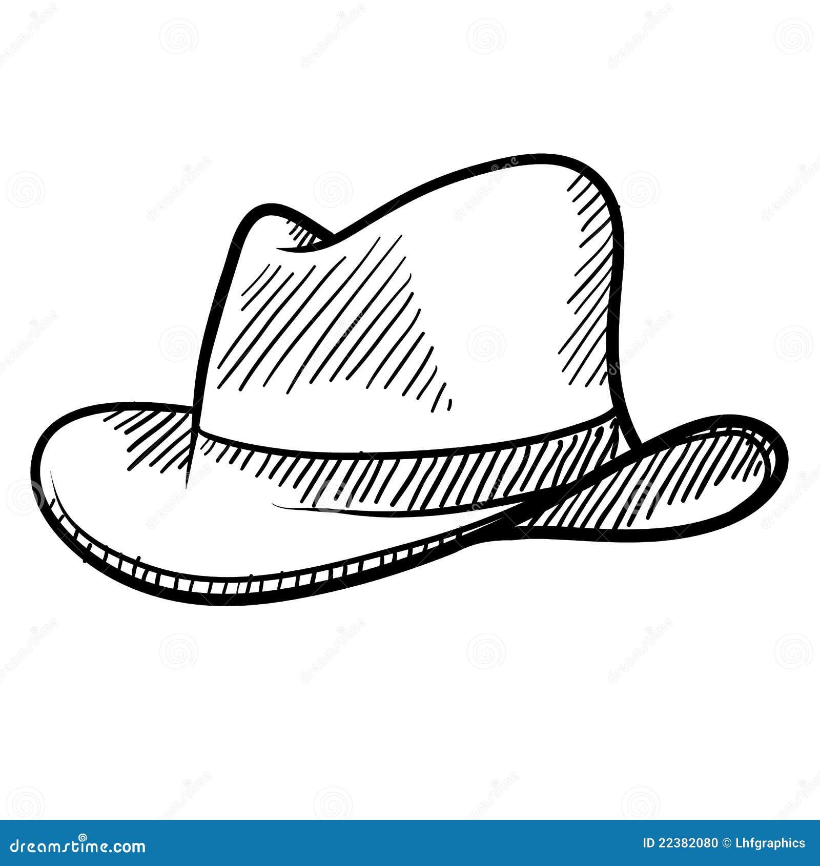 Cowboy Hat Sketch Stock Photo - Image: 22382080
