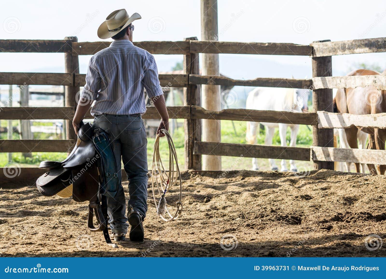 Cowboy het letten op