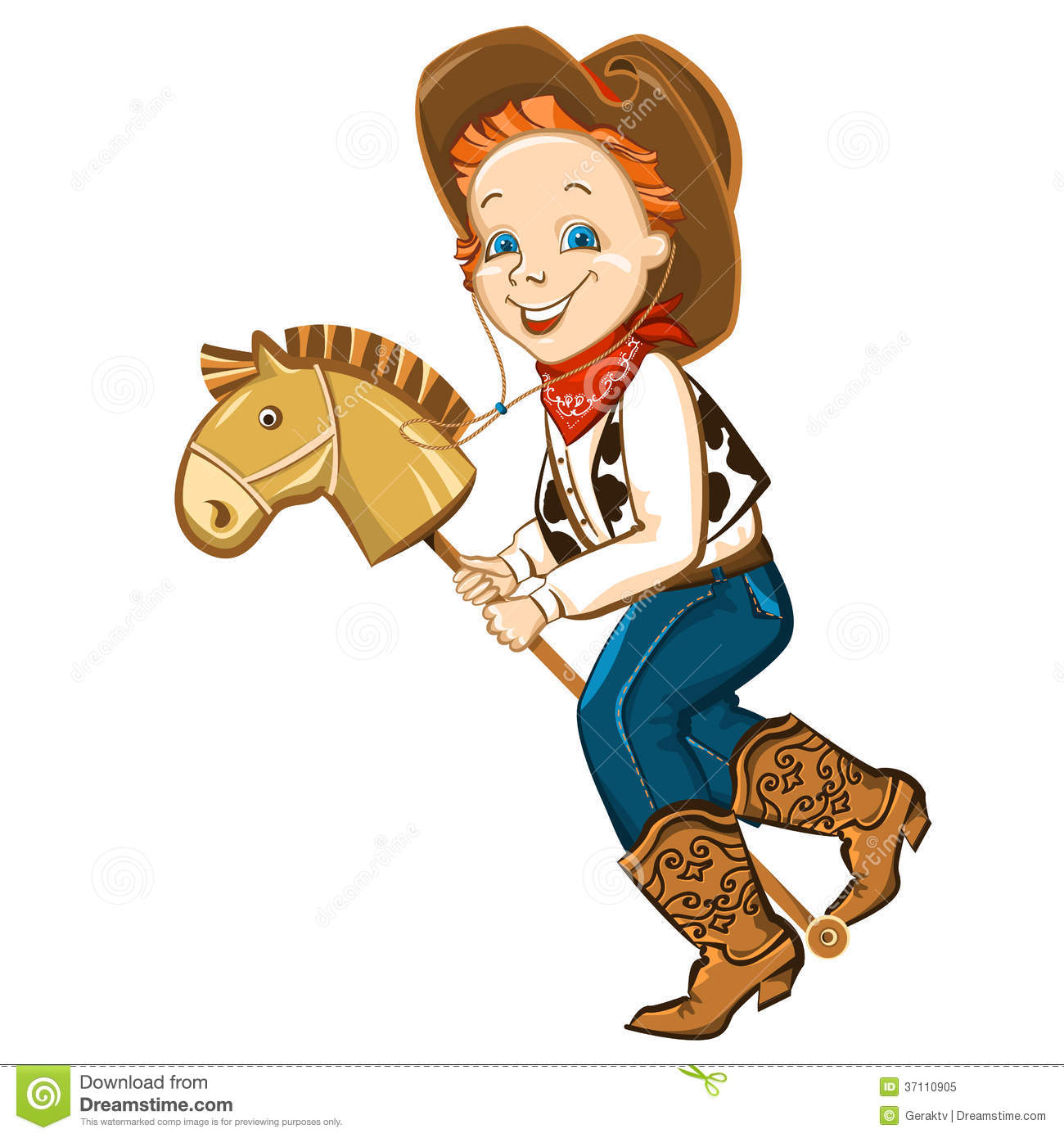 cowboy kid and toy horse royalty free stock photo image 37110905 rocking horse clipart black and white vintage rocking horse clipart
