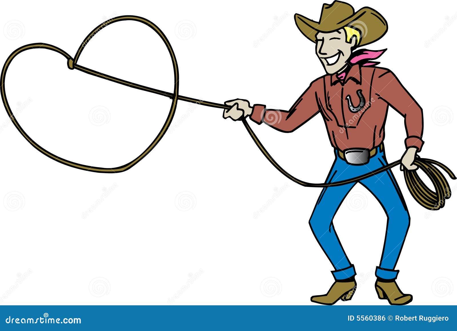 Cowboy Lassos Cowboy with lasso royalty free