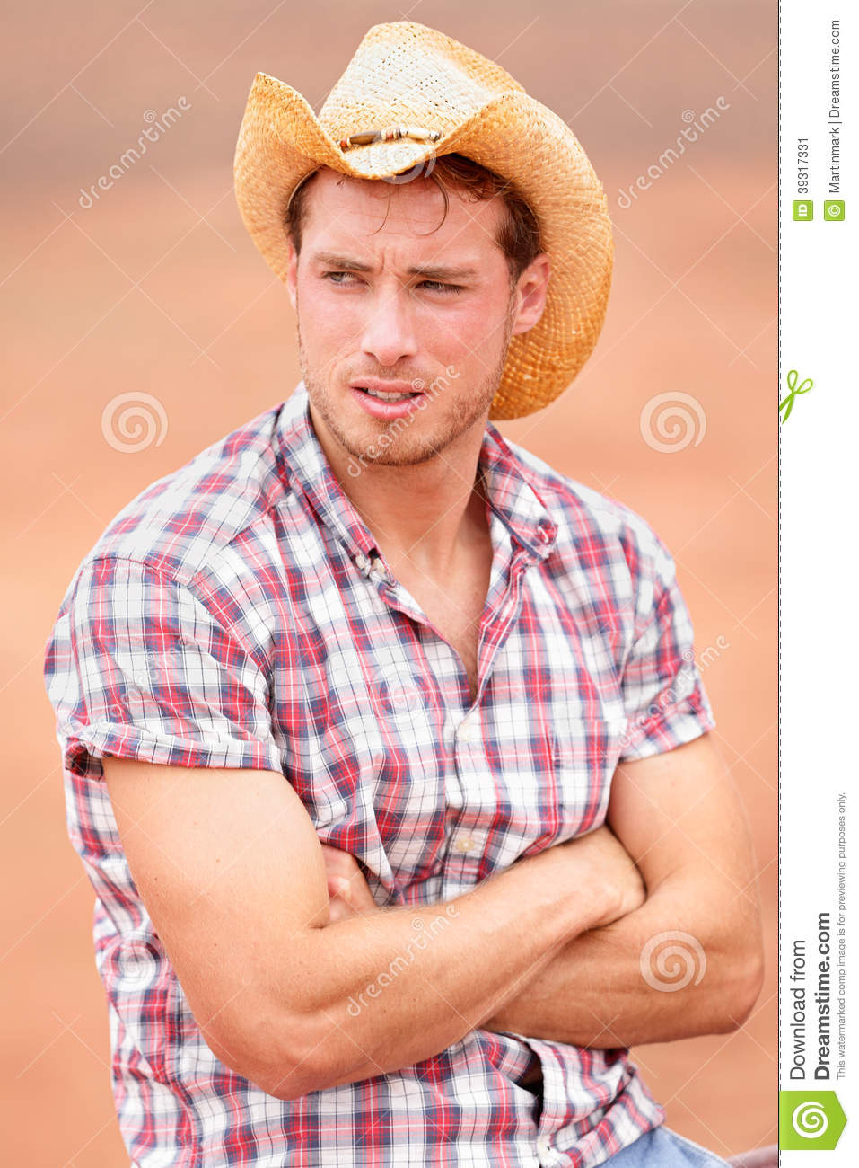 Cowboy man handsome and good looking with hat