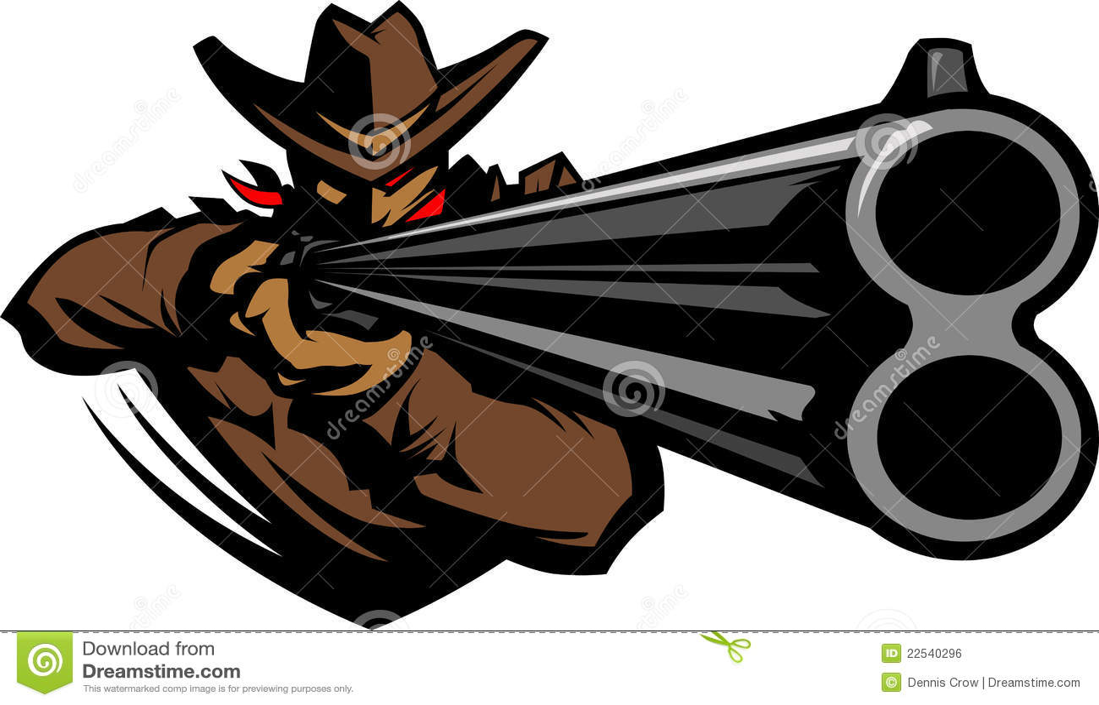 Cowboy mascot aiming shotgun illustration stock vector cowboy mascot aiming shotgun illustration voltagebd Image collections