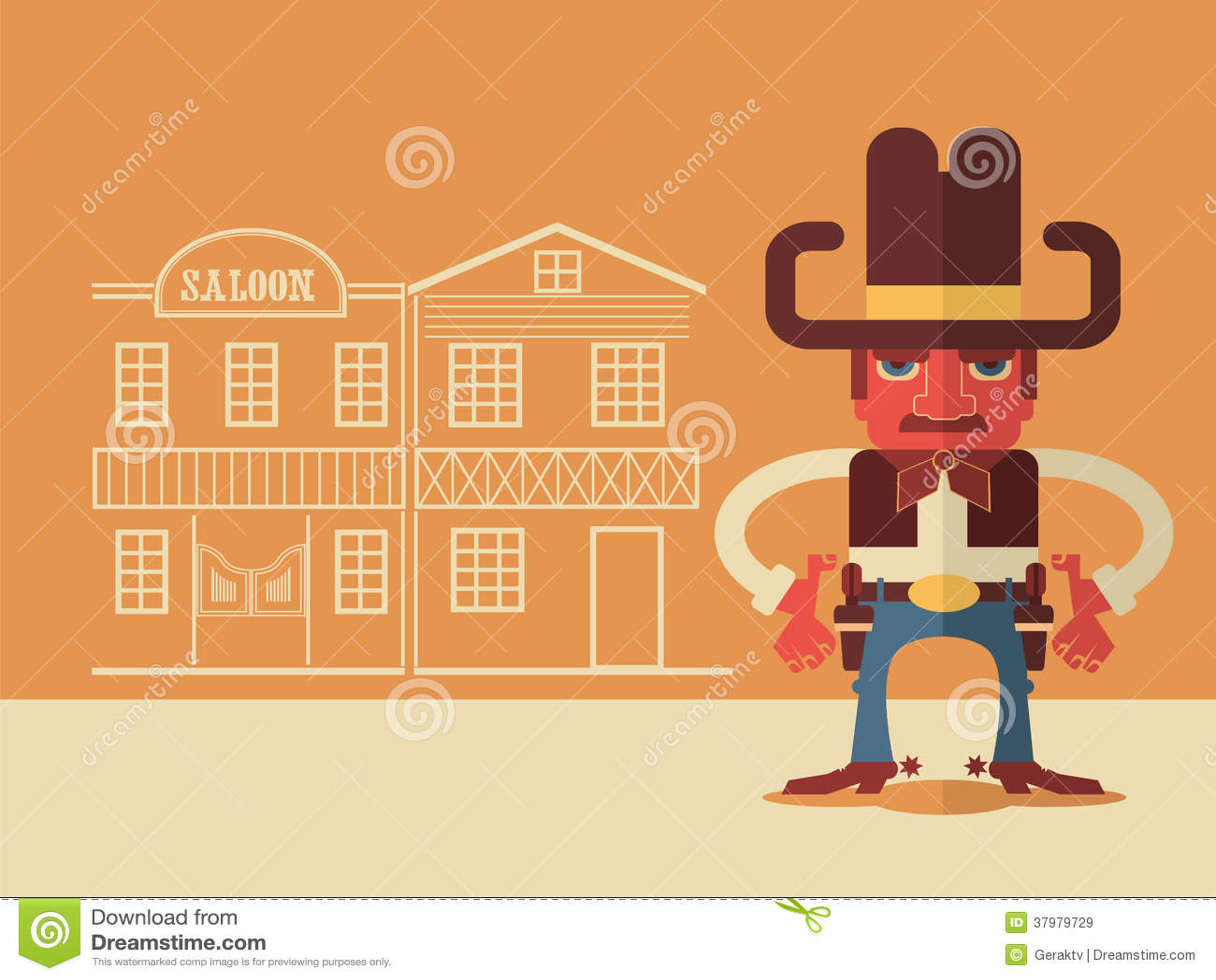 Cowboy med vapen