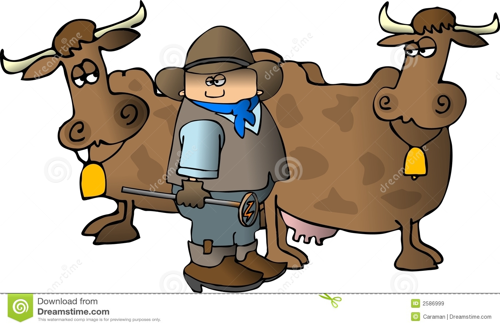 Cowboy met een Brandijzer