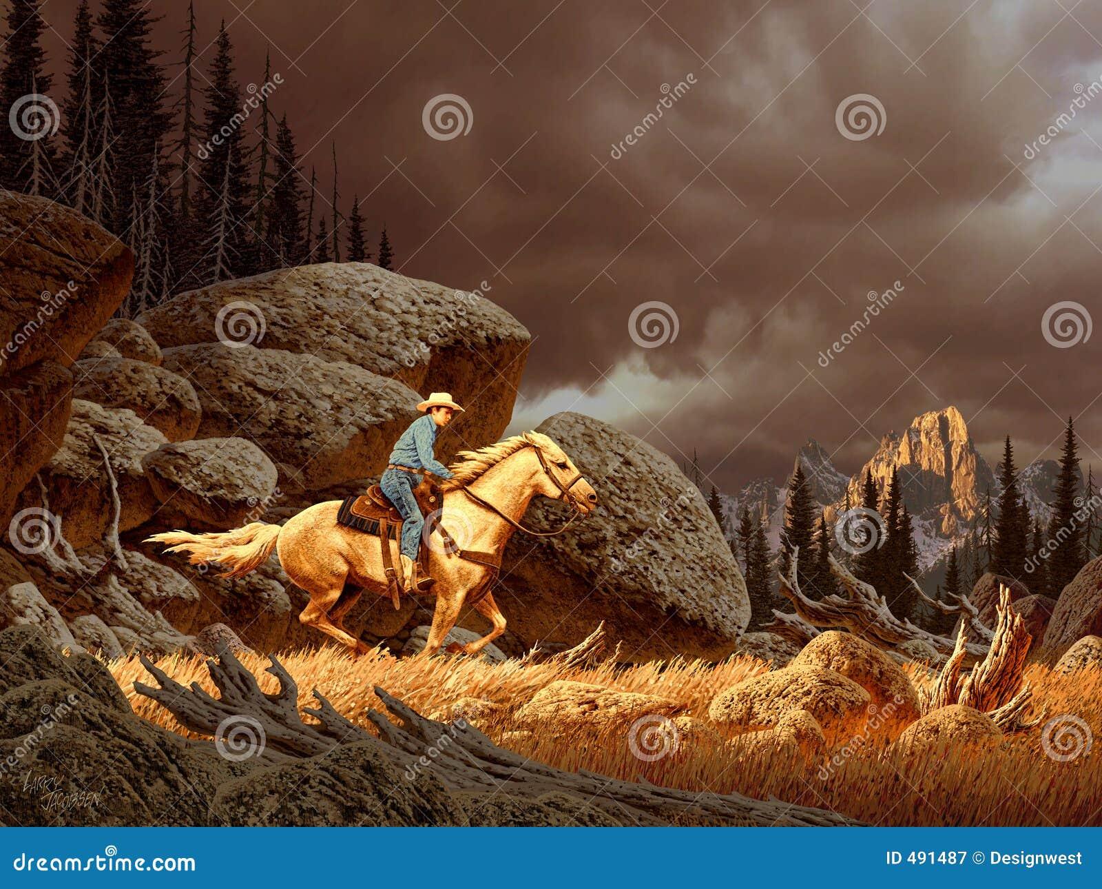 Cowboy na tempestade