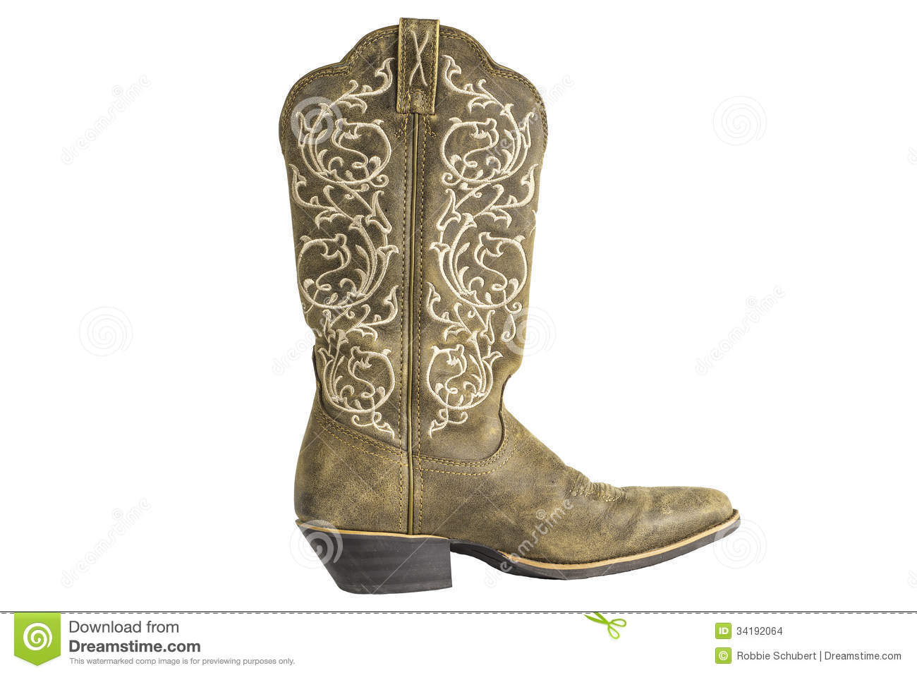 Cowboy occidental Boot de dames Brown