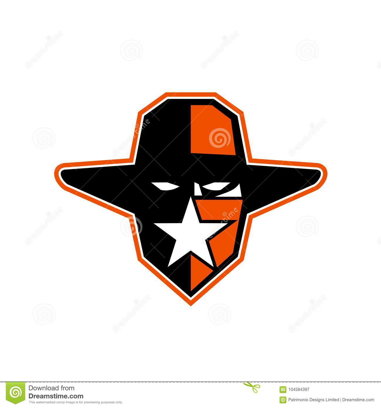 a1ebacc593f Cowboy Outlaw Star Icon stock illustration. Illustration of outlaw ...