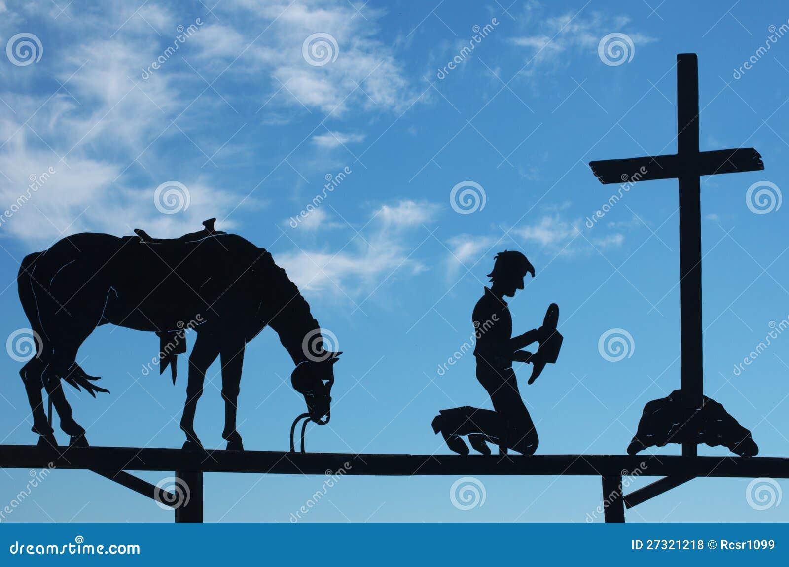 Cowboy Praying Royalty Free Stock Photos Image 27321218