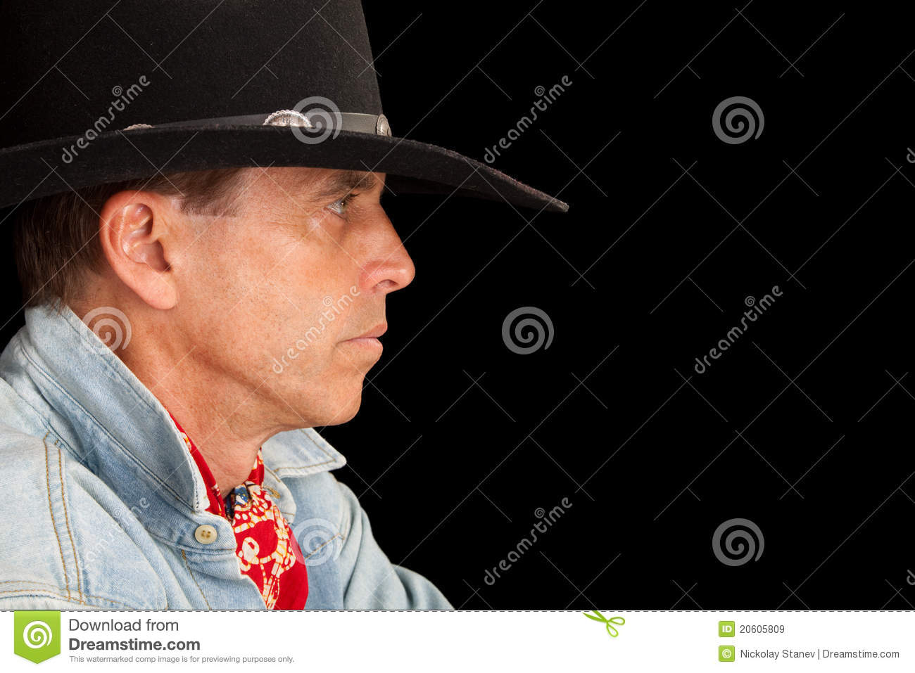 cowboy profile royalty free stock images image 20605809
