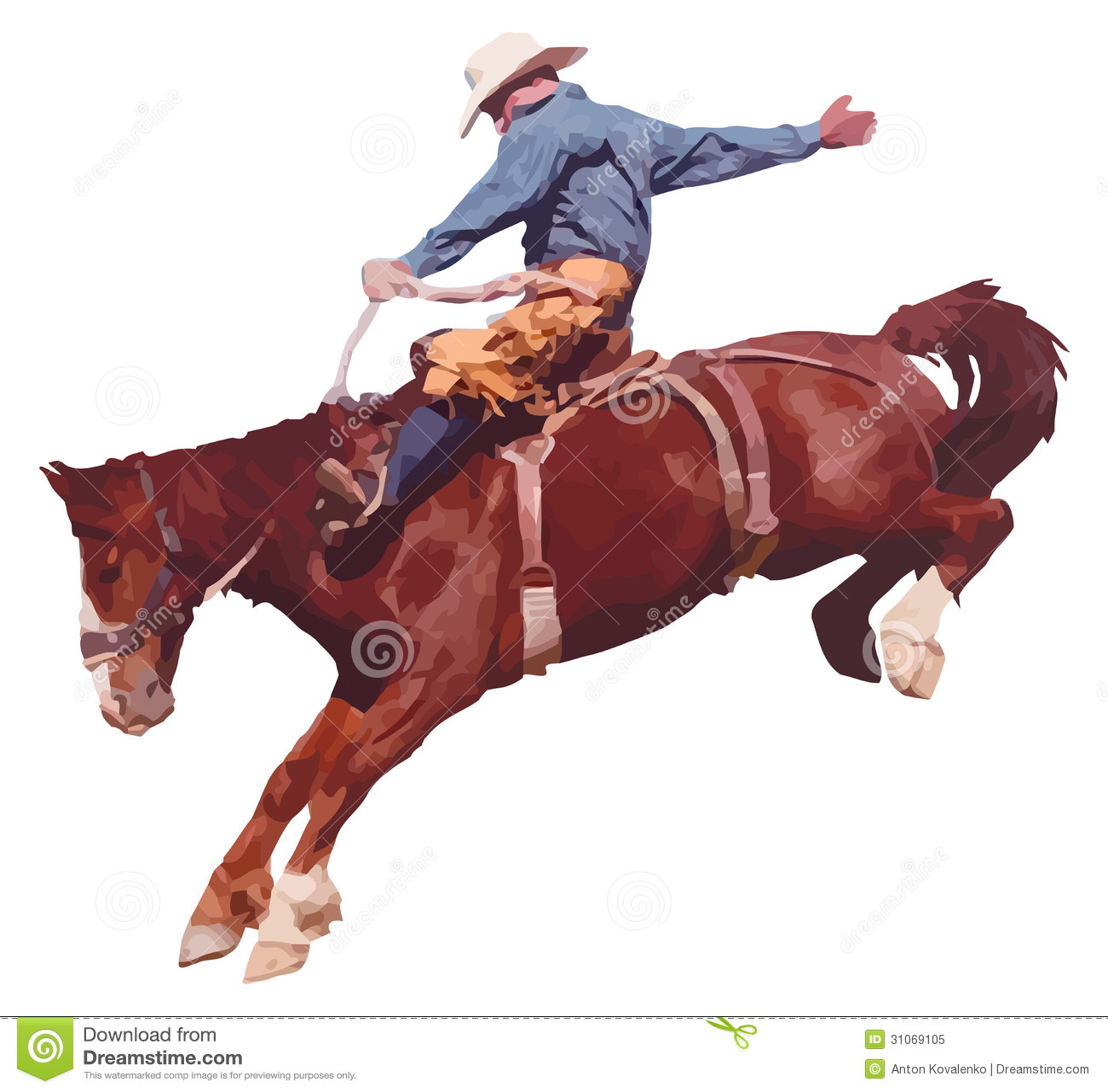 Cowboy Riding Horse At Rodeo. Royalty Free Stock Photo - Image ...