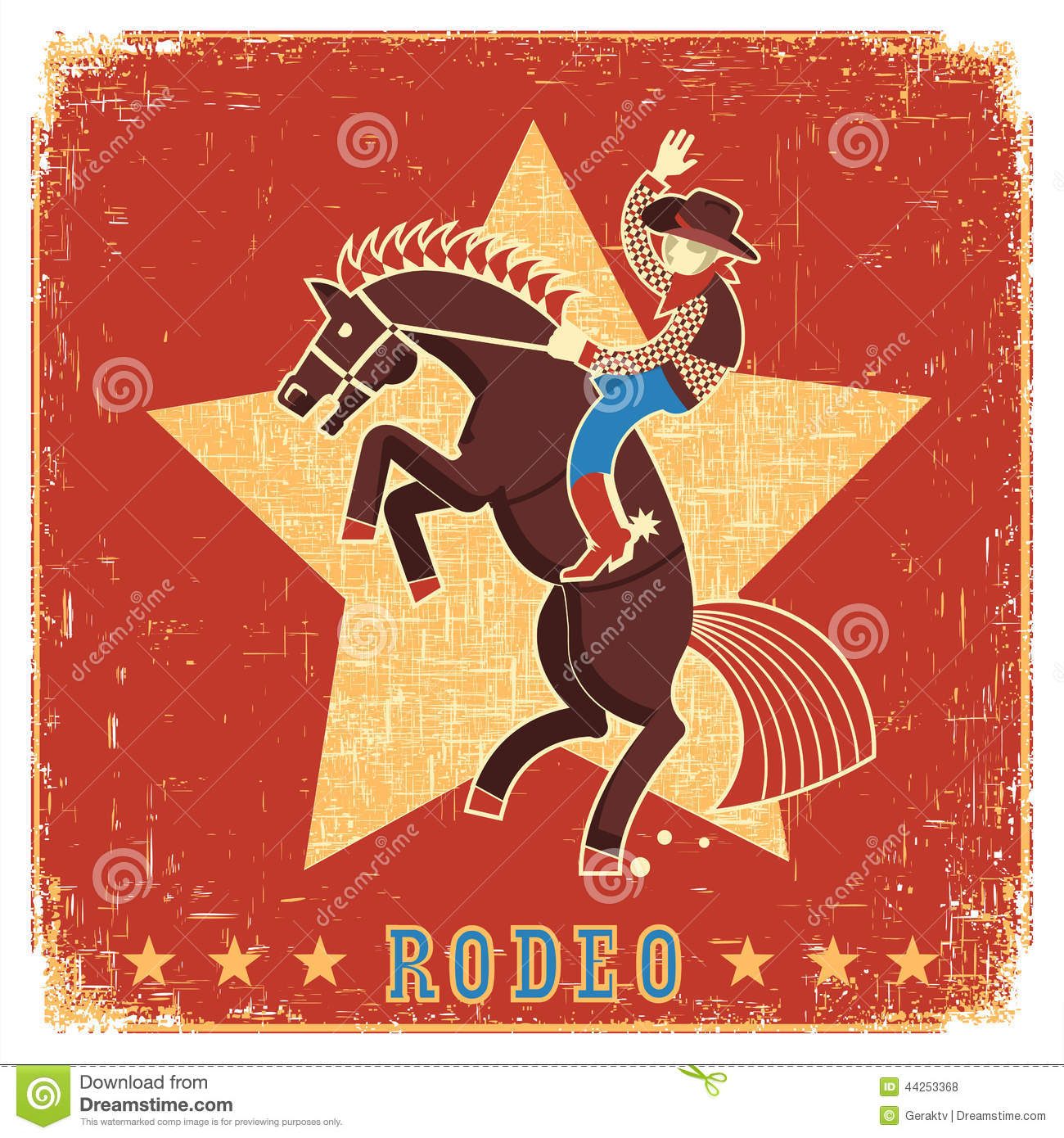 Cowboy Hat Background Cowboy Riding Rodeo Wi...