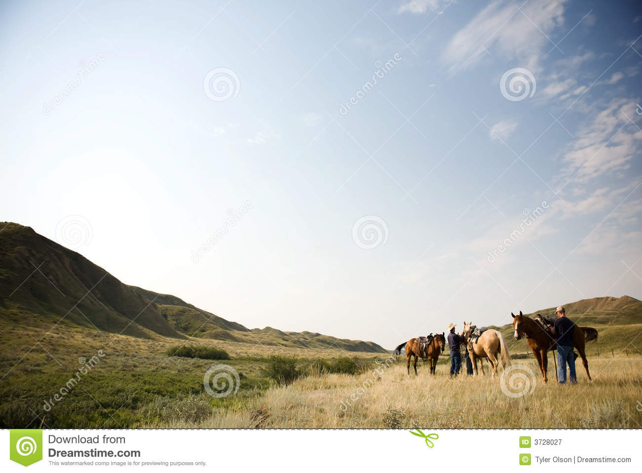 Cowboy Scene Royalty Free Stock Photography Image 3728027