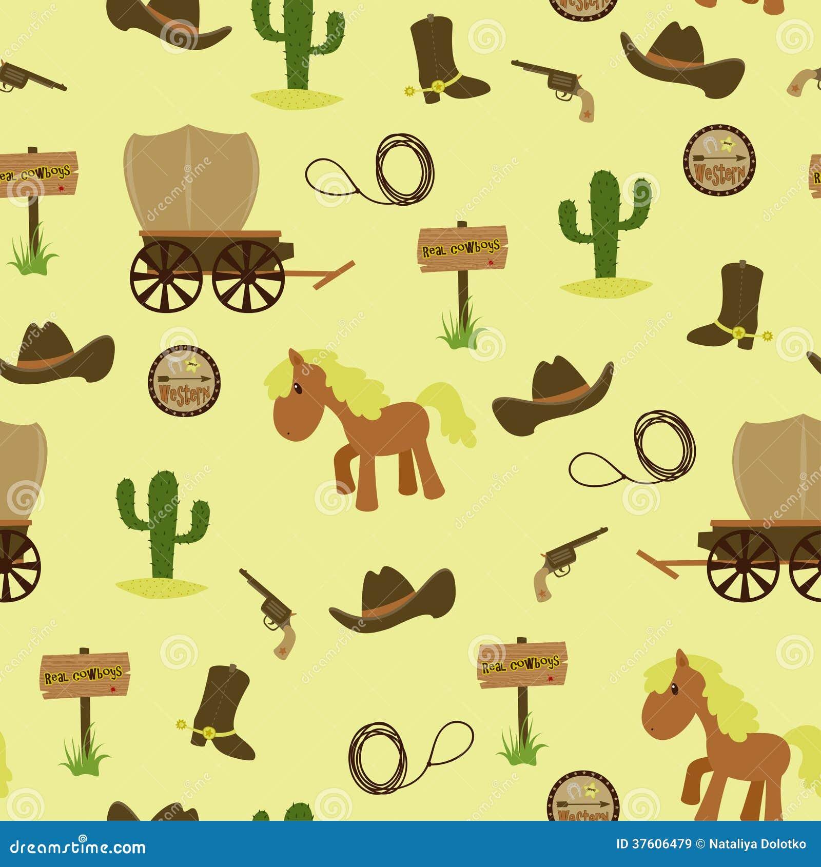 Cowboy Seamless Wallpaper Royalty Free Stock Images ...