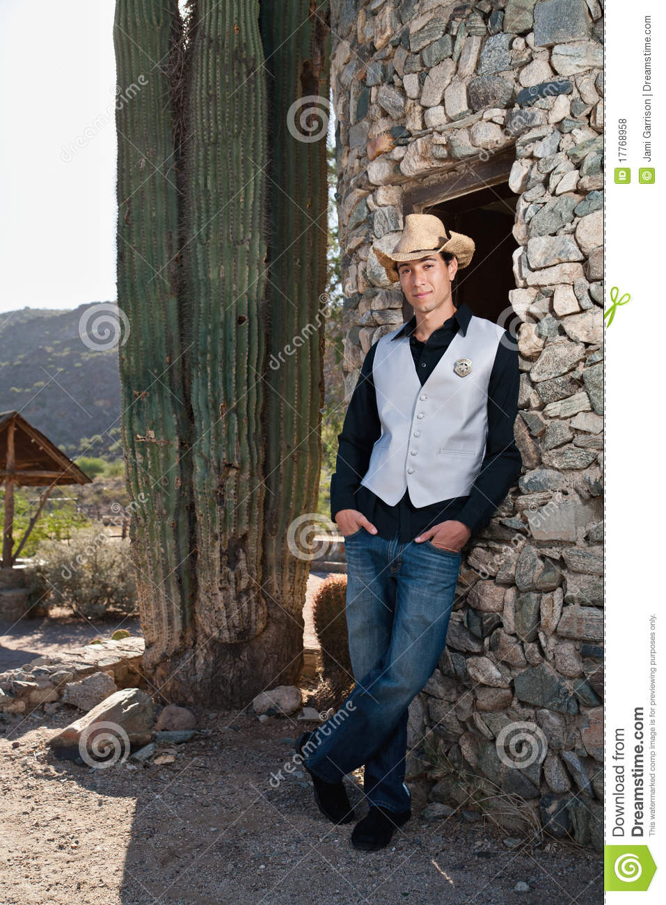 Cowboy Sheriff Stock Photo  Image Of Sheriff  Person