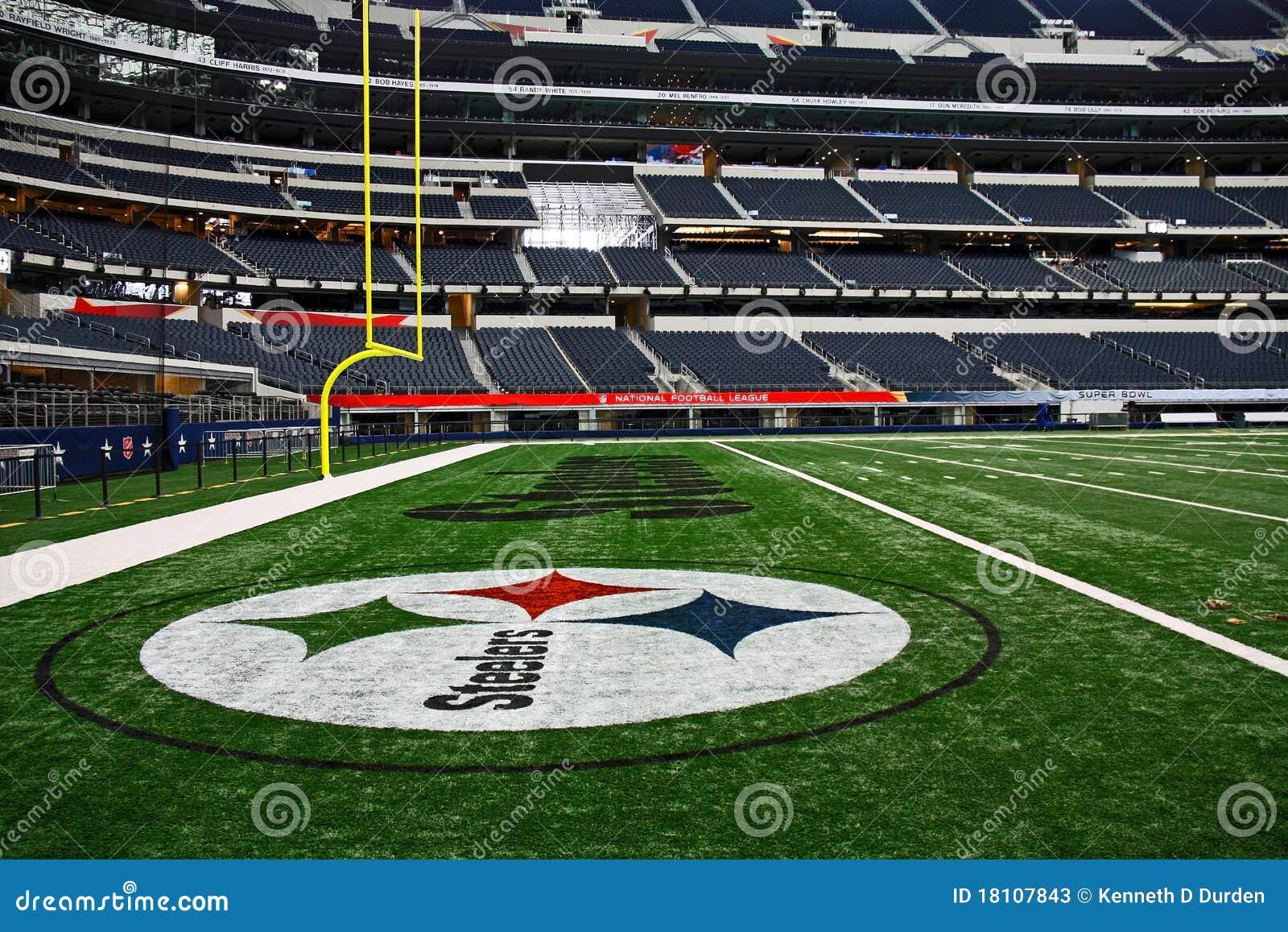 Cowboy Stadium Super Bowl Steelers End Zone